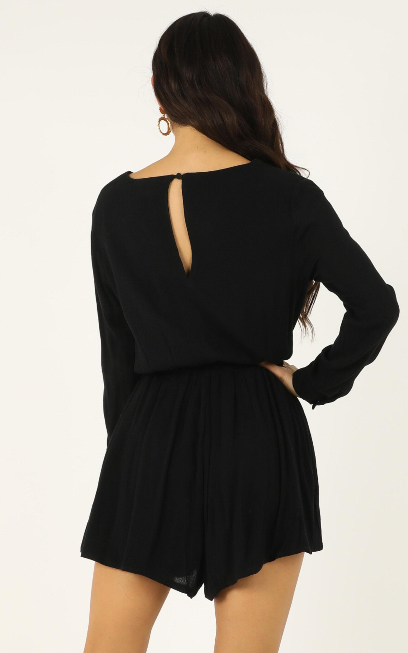 Maybe Once Playsuit in black - 20 (XXXXL), Black, hi-res image number null