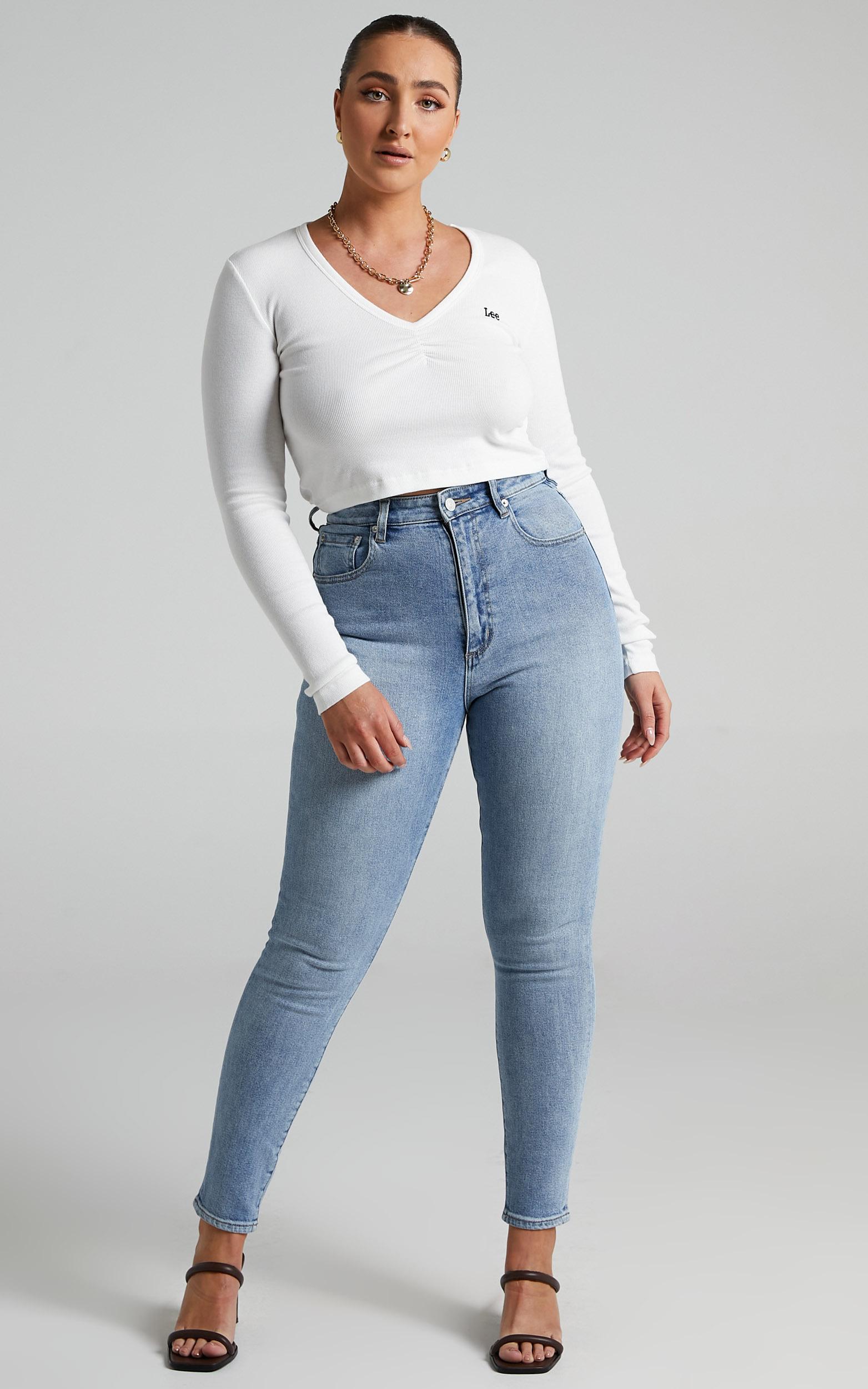 Lee - High Licks Cropped Jeans in Spirit - 06, BLU1, hi-res image number null