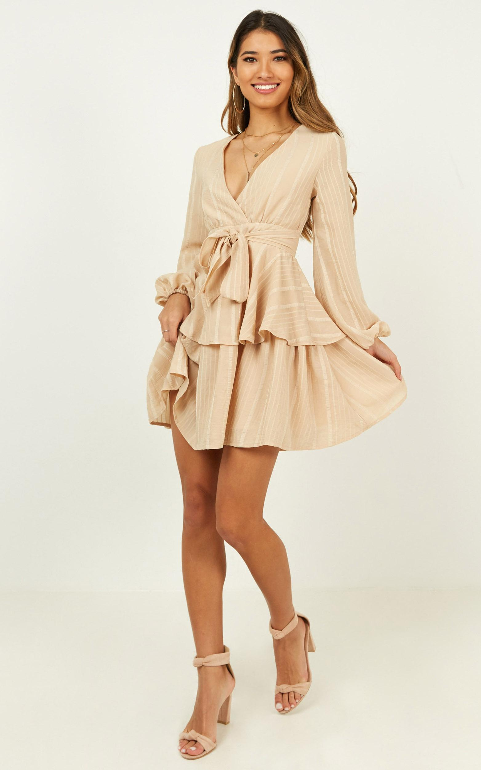 breaks like a heart dress in beige - 20 (XXXXL), Beige, hi-res image number null
