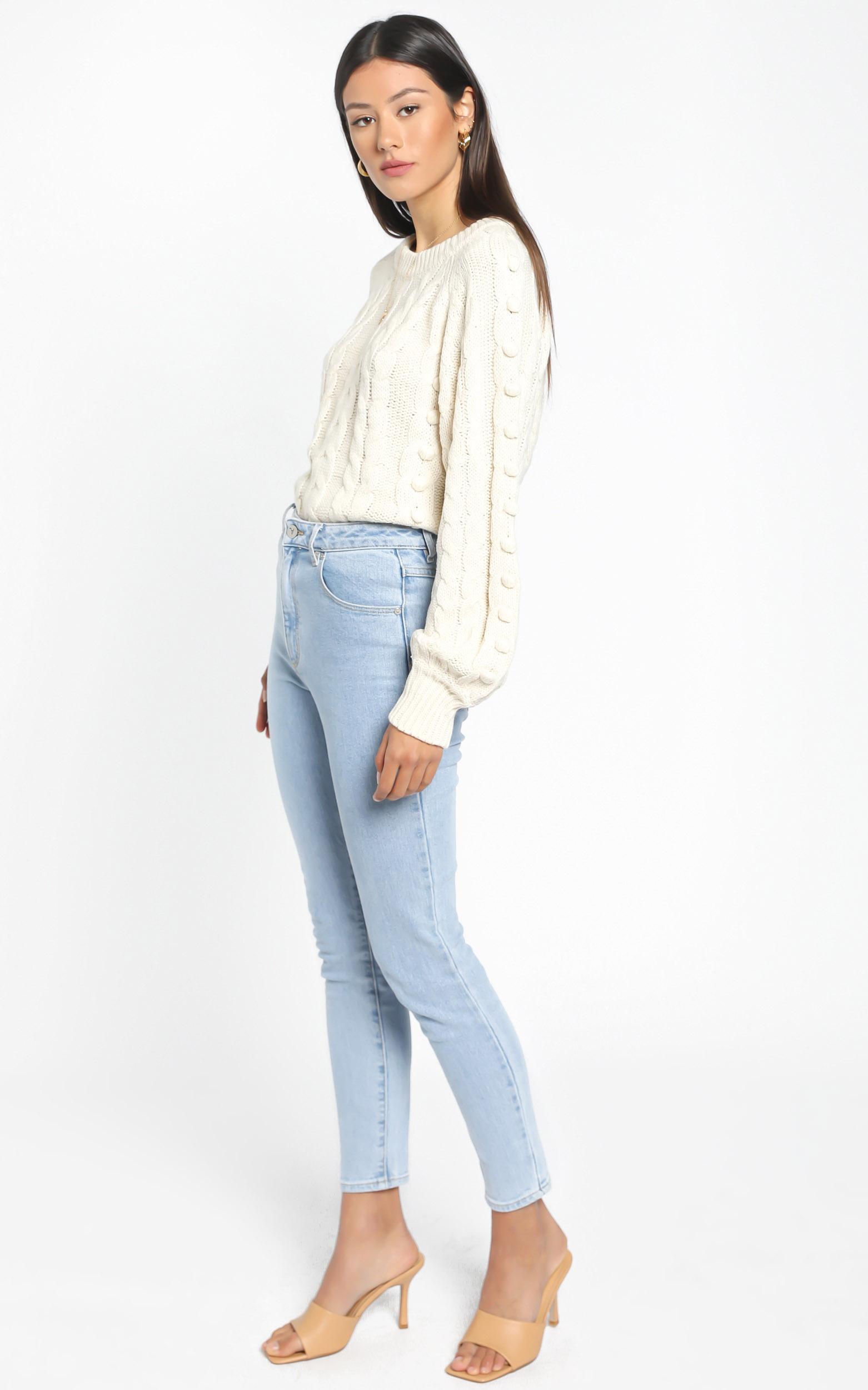 Brianna Bobble Knit In Cream - M/L, Cream, hi-res image number null
