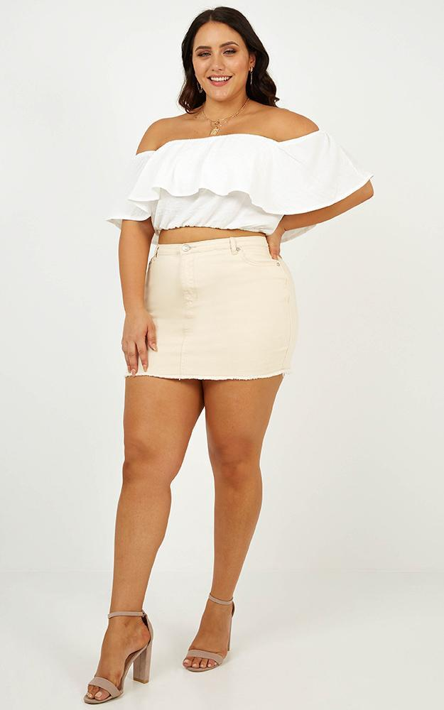 Favourite Thing crop top in white - 6 (XS), White, hi-res image number null