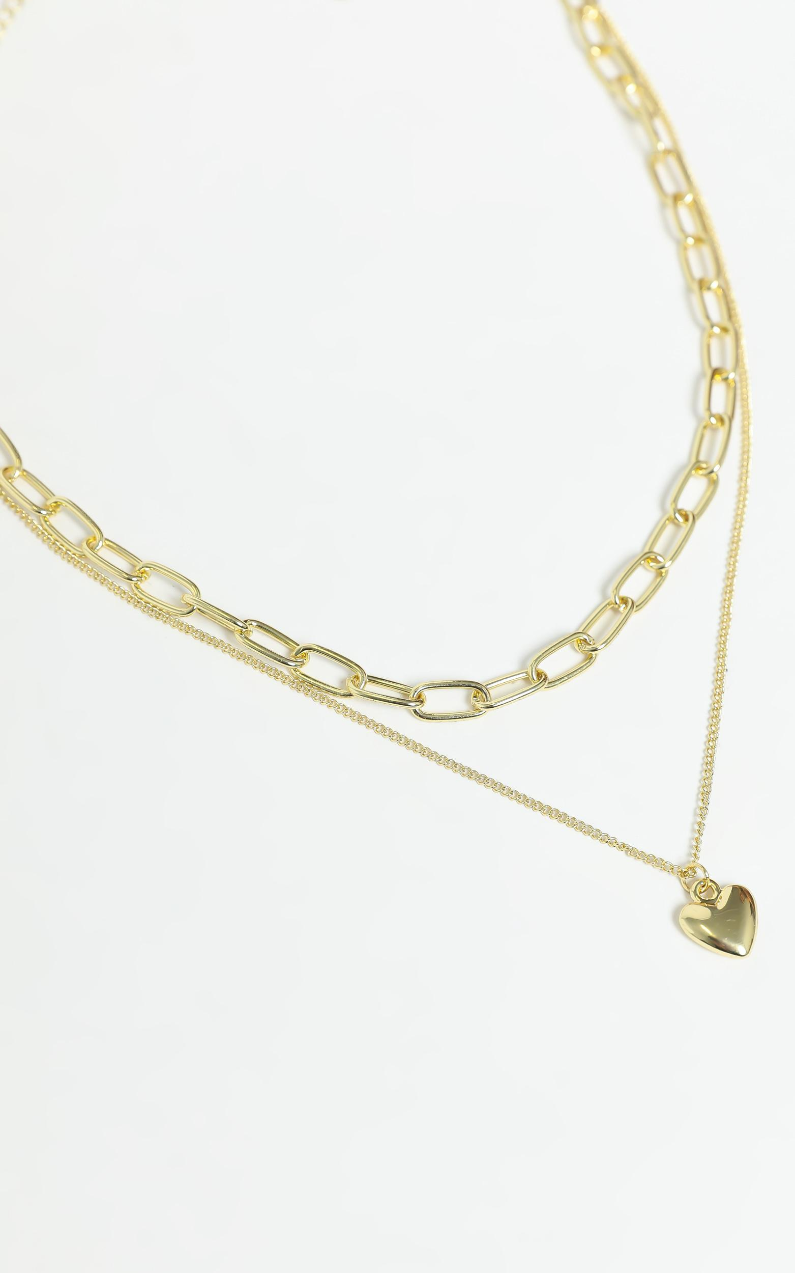 Heart Pendant Necklace in Gold, , hi-res image number null