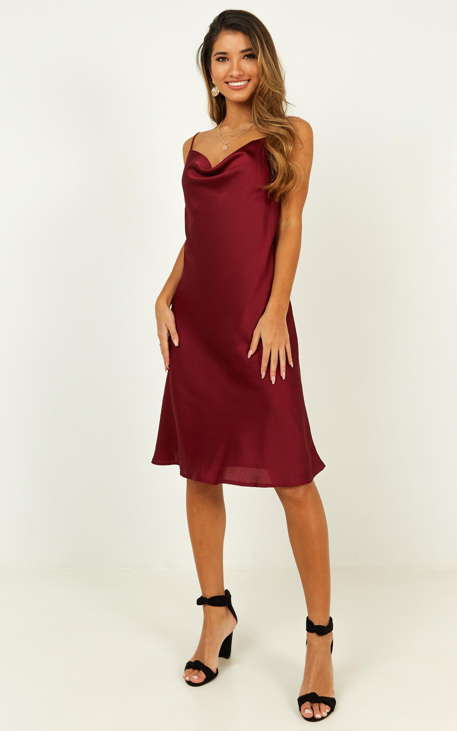 Colour me pretty dress in wine - 20 (XXXXL), Wine, hi-res image number null