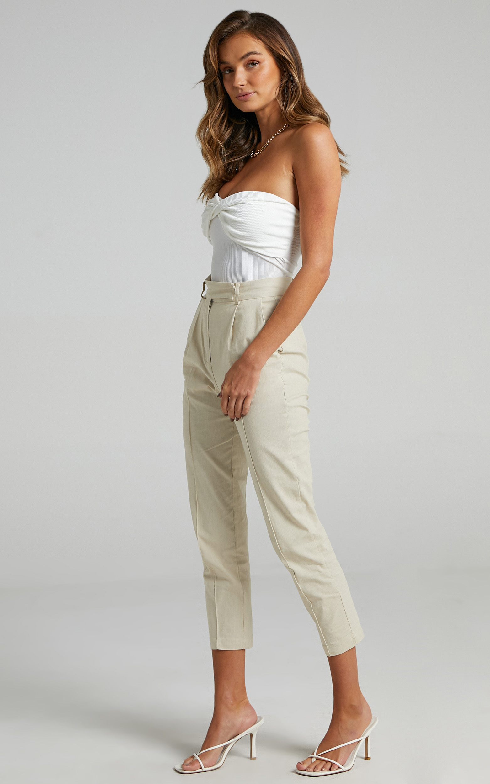 Runaway The Label - Calix Pants in Sand - L, BRN1, hi-res image number null