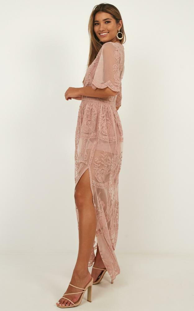 Midnight Hour maxi playsuit in blush - 12 (L), Blush, hi-res image number null
