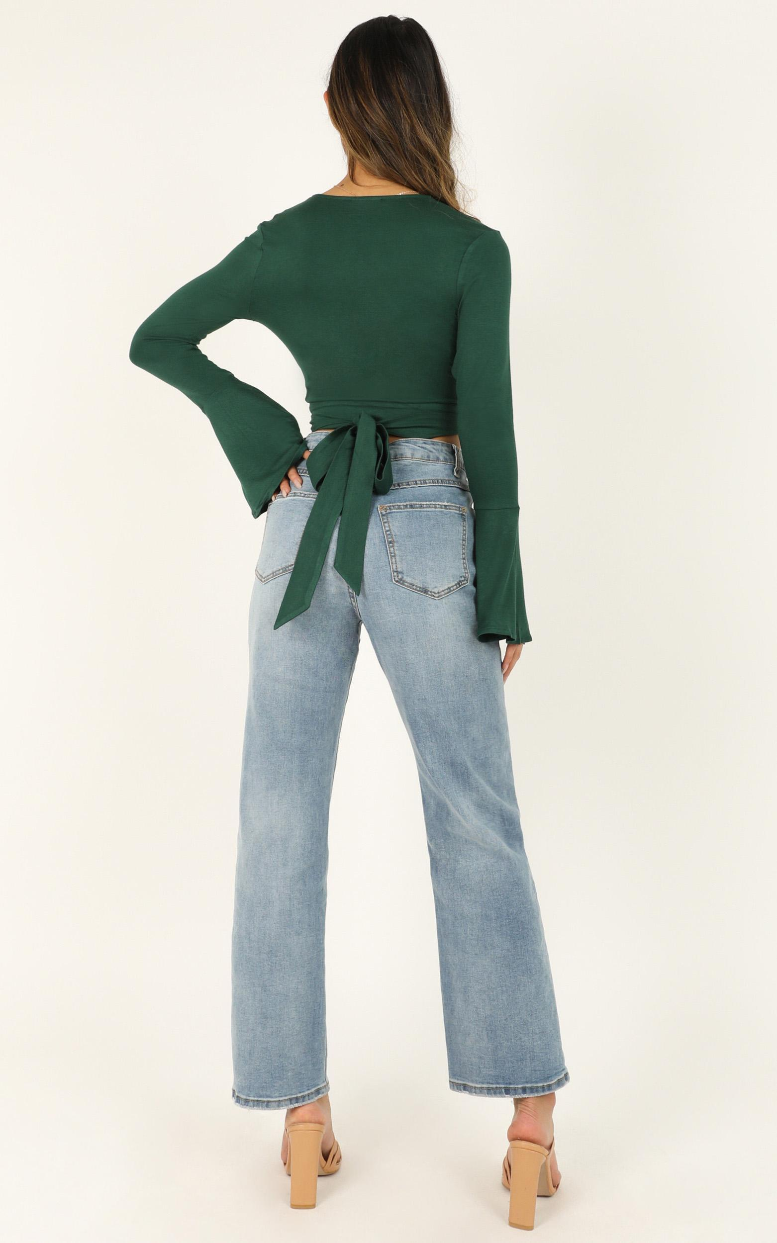 Sunday Drive Top in emerald - 20 (XXXXL), Green, hi-res image number null