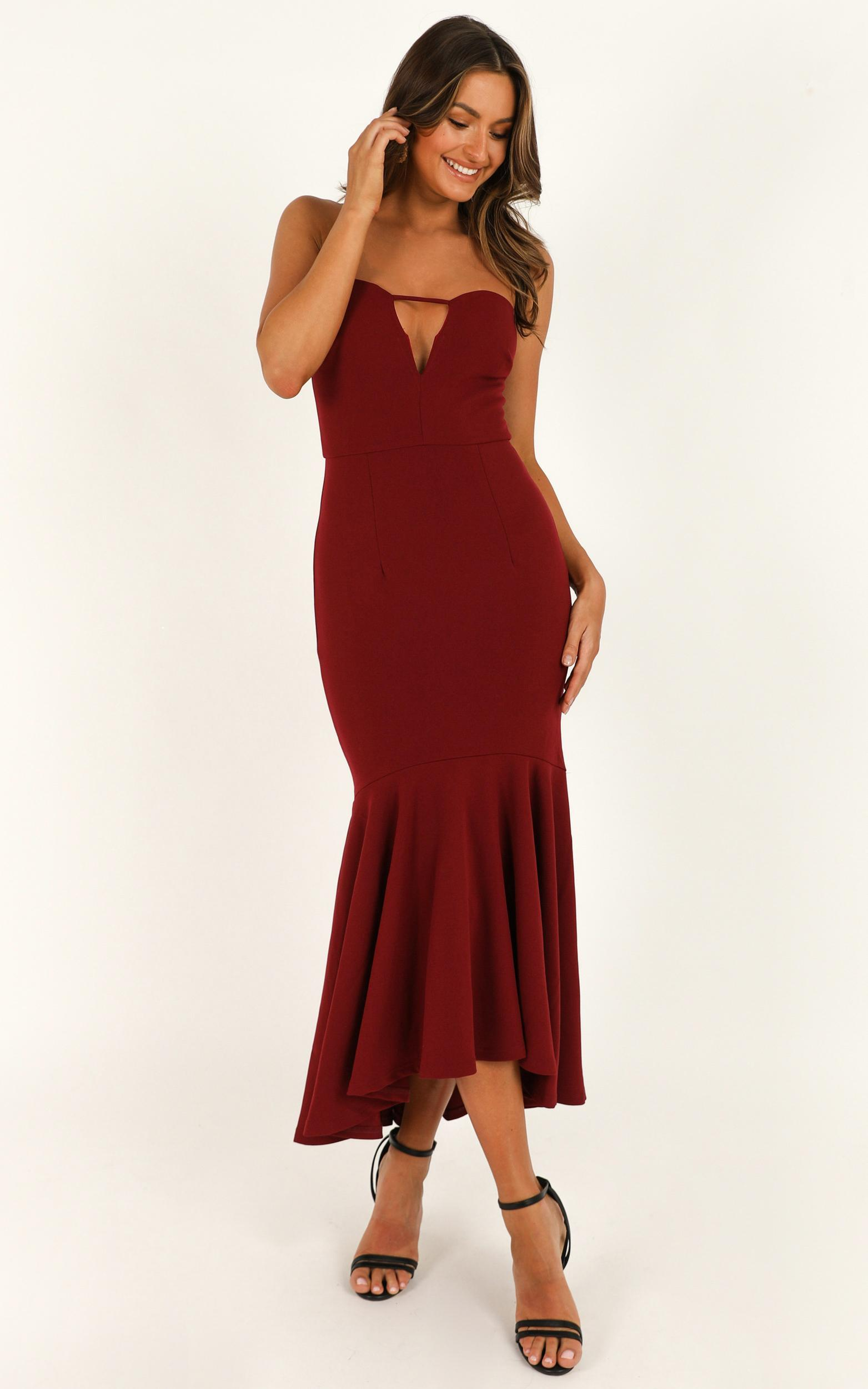 The Main Event Dress in wine - 20 (XXXXL), Wine, hi-res image number null