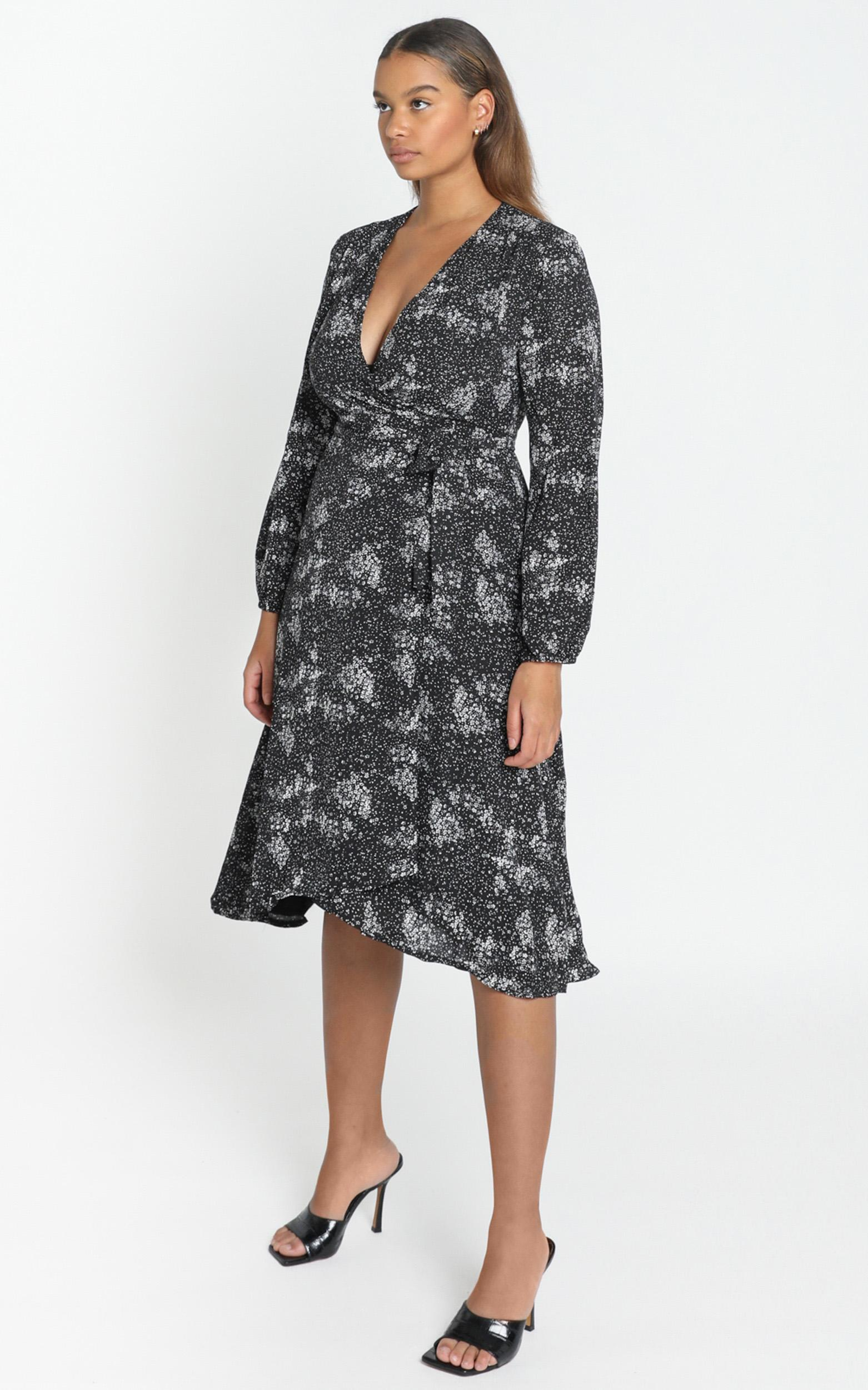 Tuscan Fields Dress in black floral - 4 (XXS), Black, hi-res image number null