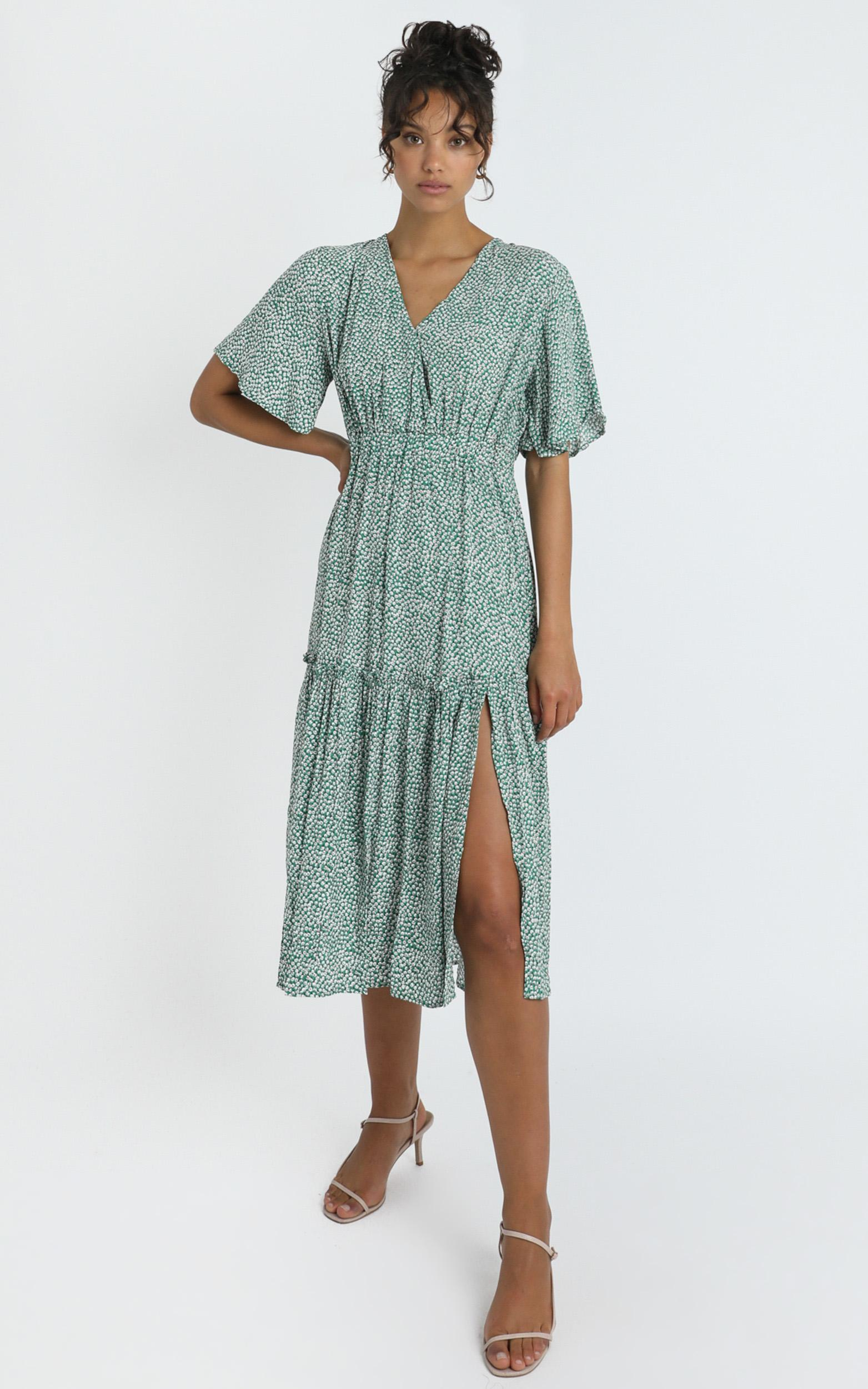 Dai Dress in Green Spot - 14 (XL), Green, hi-res image number null