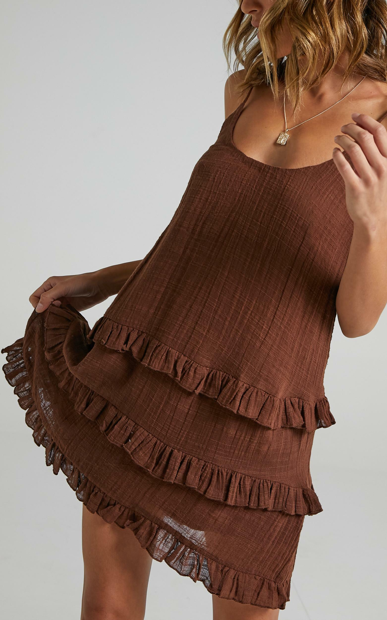 Long Reflections Dress in Chocolate - 06, BRN1, hi-res image number null