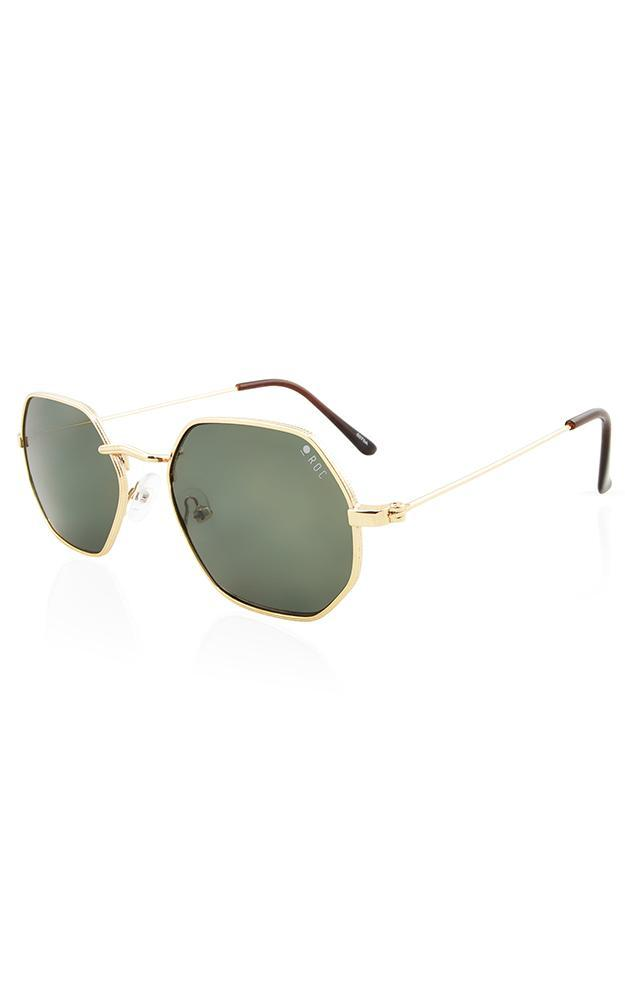 ROC - Doc Sunglasses In Gold And Khaki, Gold, hi-res image number null