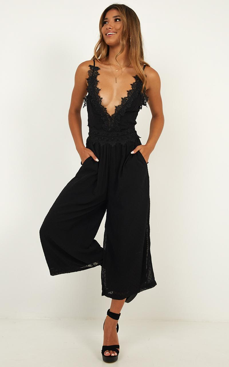 We Could Be Friends jumpsuit in Black - 4 (XXS), Black, hi-res image number null