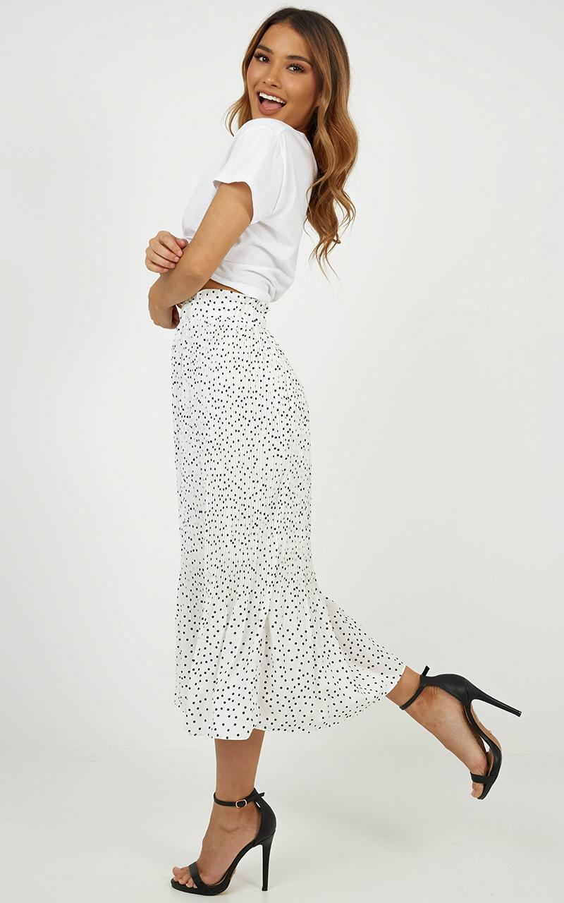 Real Reason skirt in white spot, White, hi-res image number null