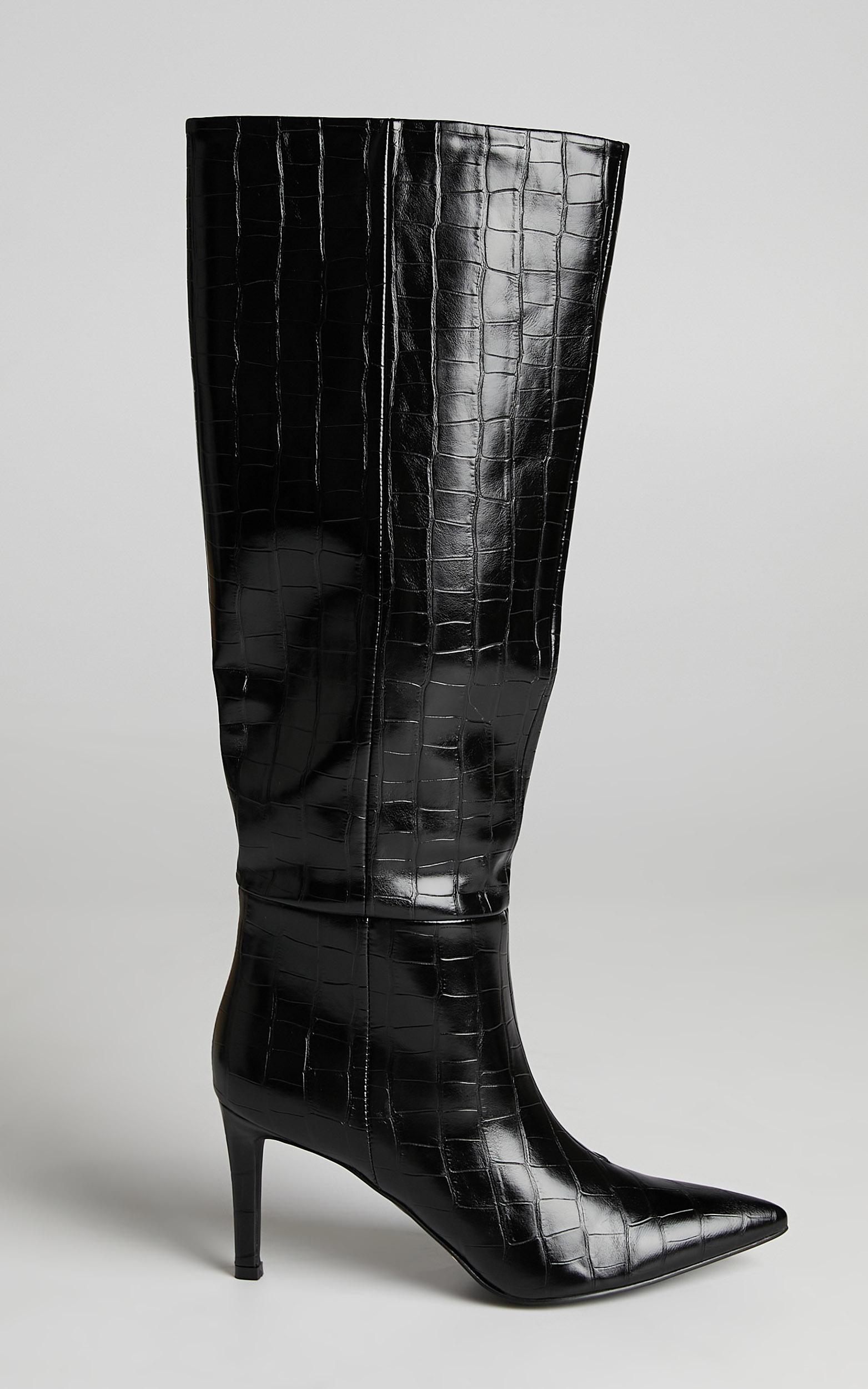 Billini - Bourbon Boots in Black Croc - 05, BLK1, hi-res image number null