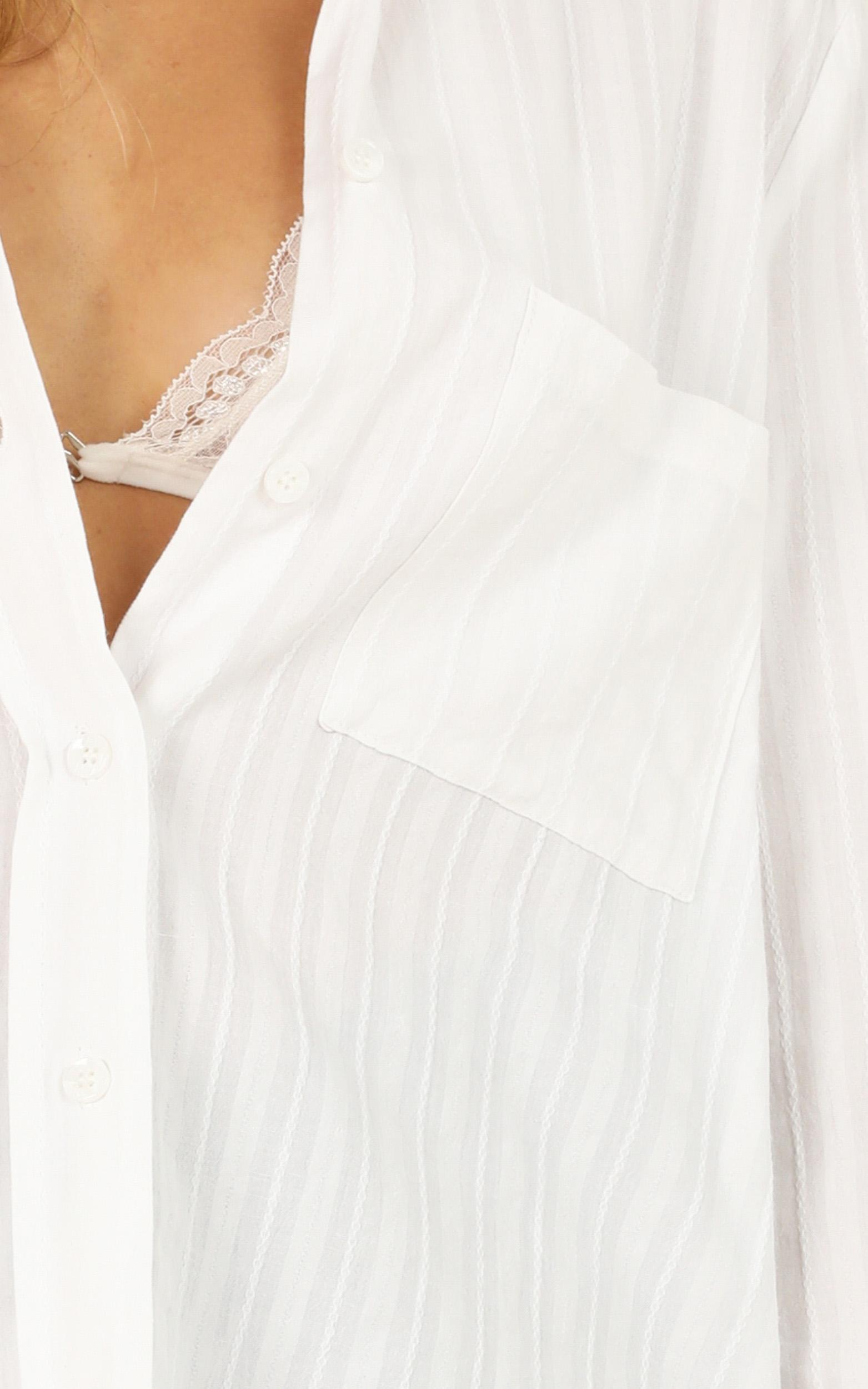 New Look Top In white linen look - 14 (XL), White, hi-res image number null