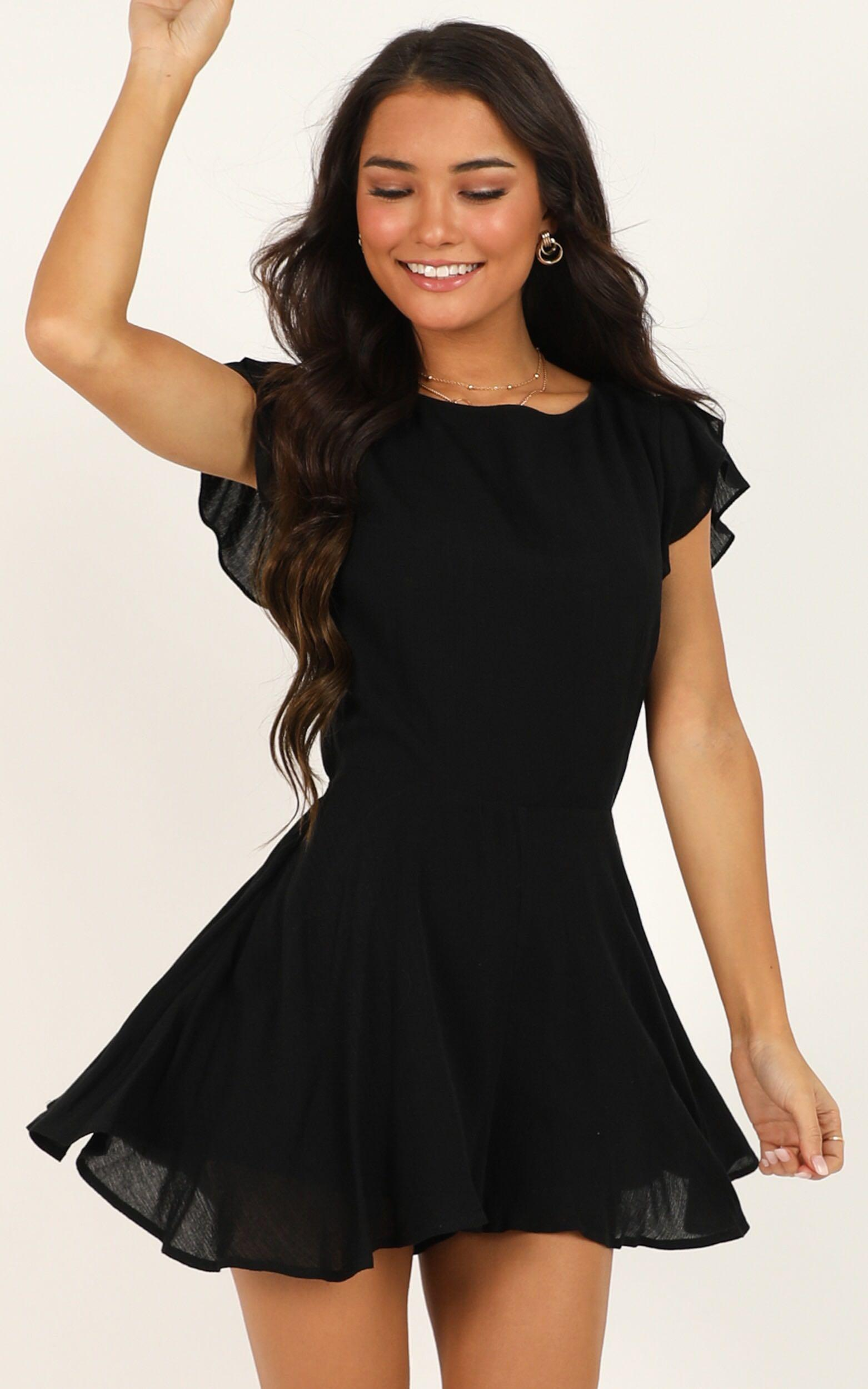 Fortunate Love Playsuit in black - 20 (XXXXL), Black, hi-res image number null