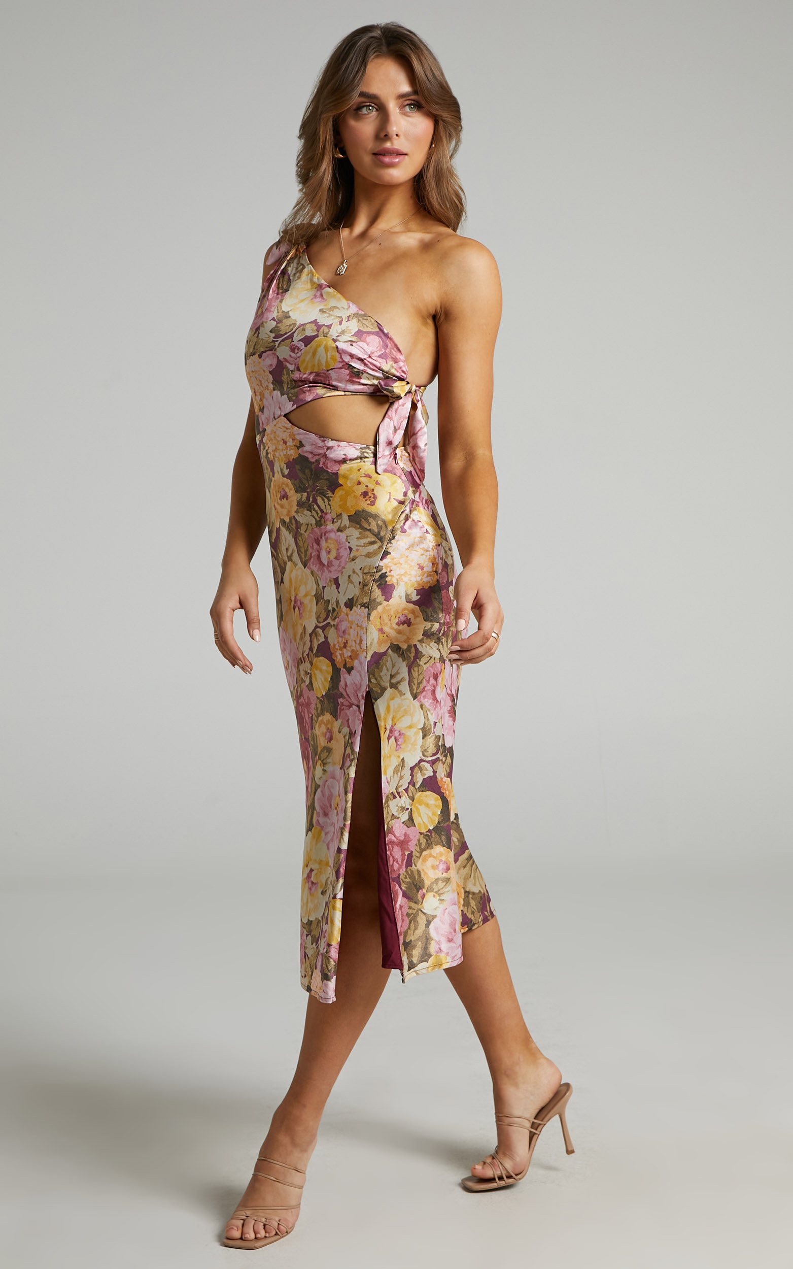 Glaucus Dress in Classic Floral - 06, PNK1, hi-res image number null