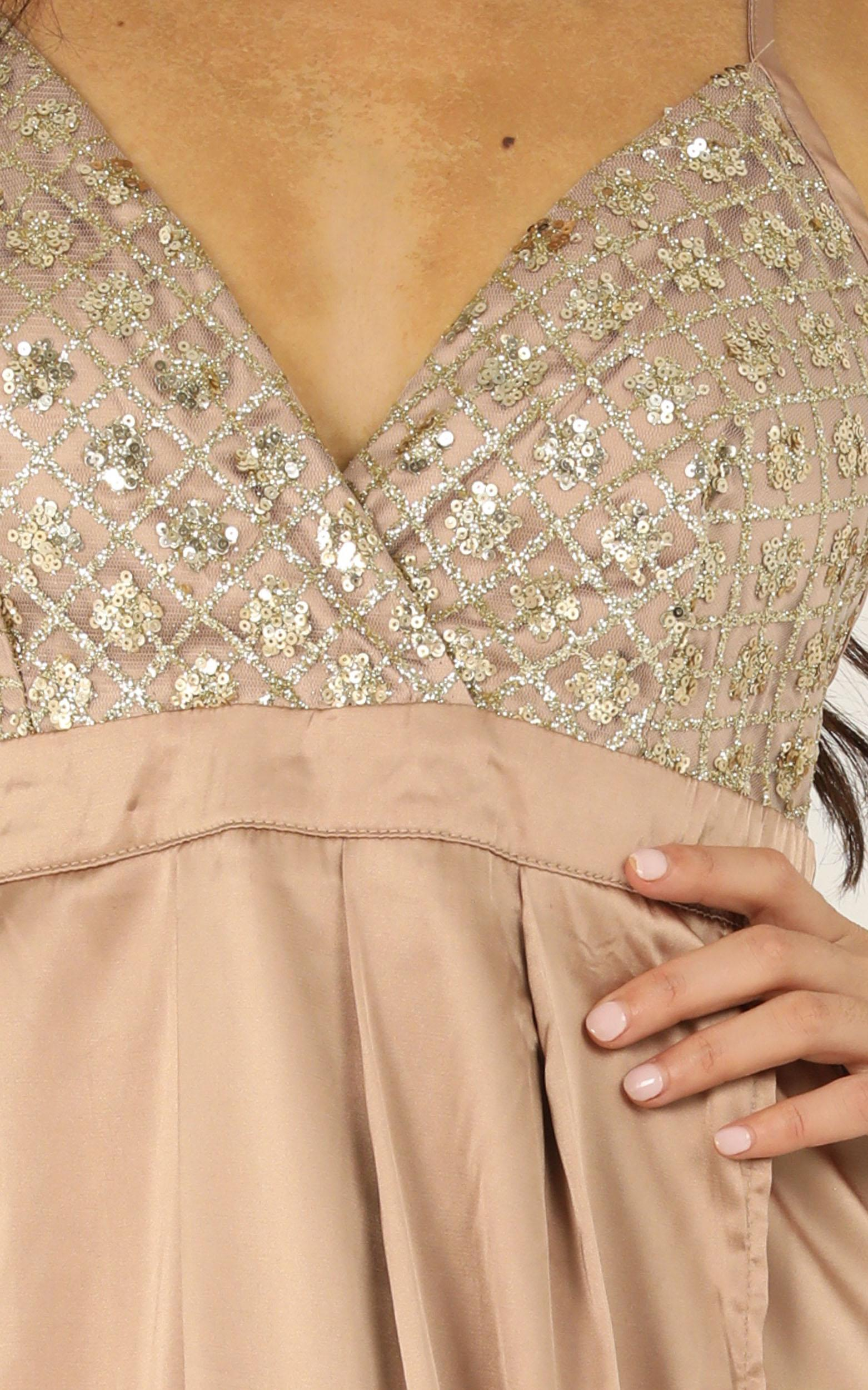 Sugar Snap Dress in gold sequin - 6 (XS), Gold, hi-res image number null