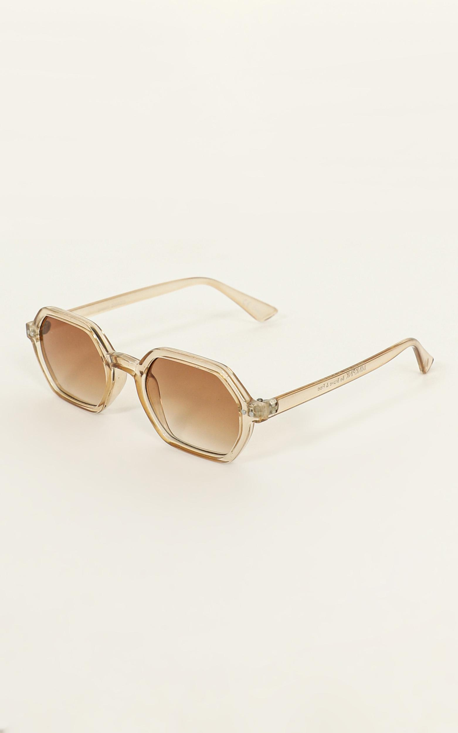 Mink Pink - Zimmy Sunglasses In Tan And Tan Grad, Tan, hi-res image number null