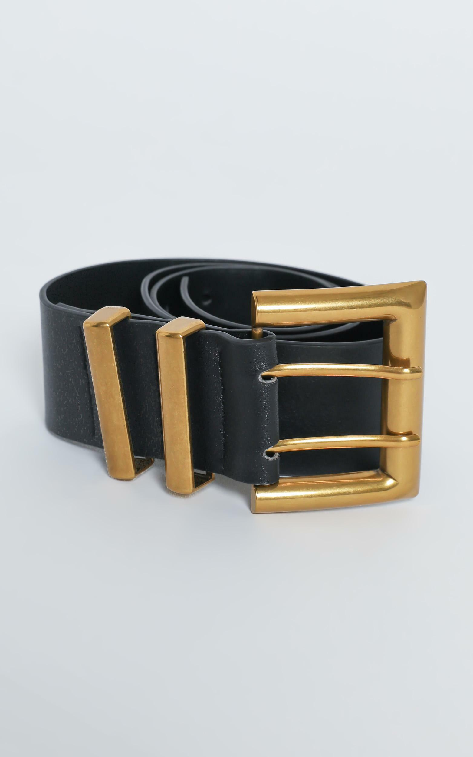 Pair It Back With Belt in Black and Gold, , hi-res image number null