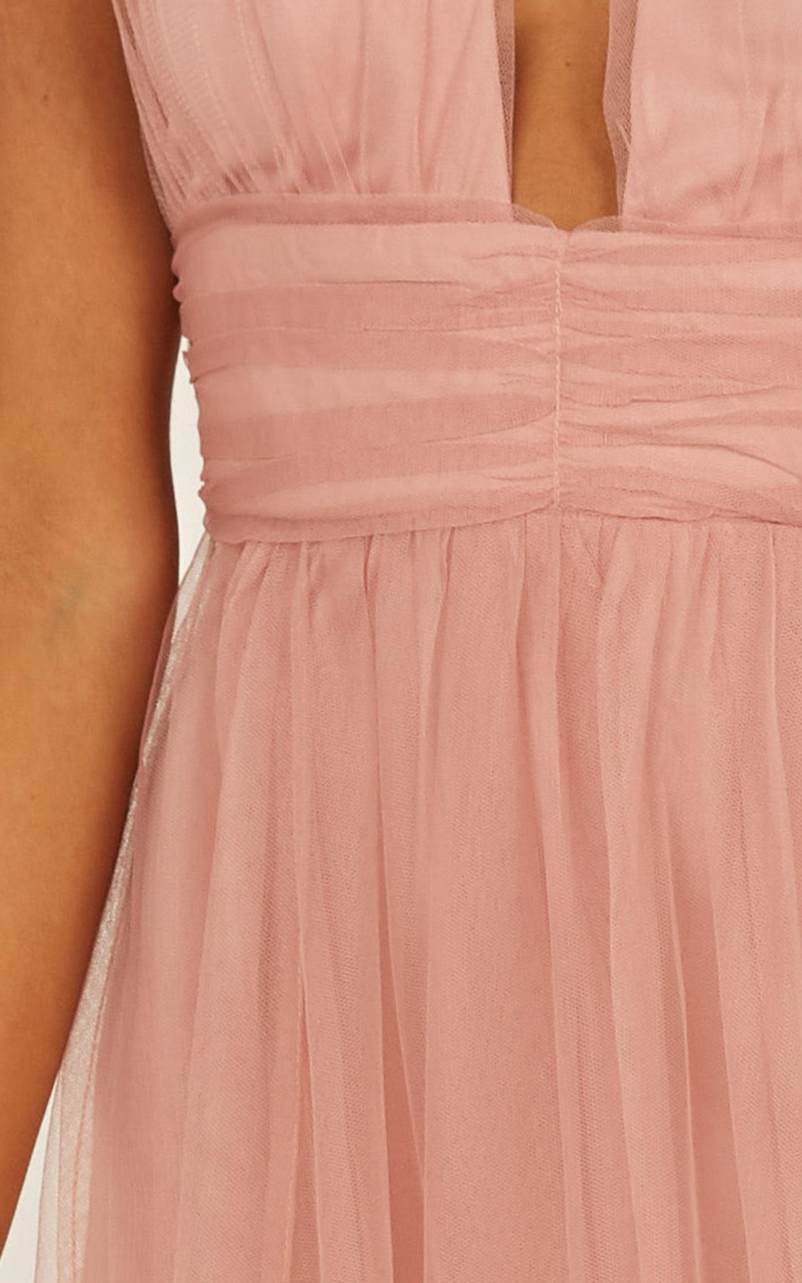 Honeymoon Avenue maxi dress in blush - 8 (S), Blush, hi-res image number null