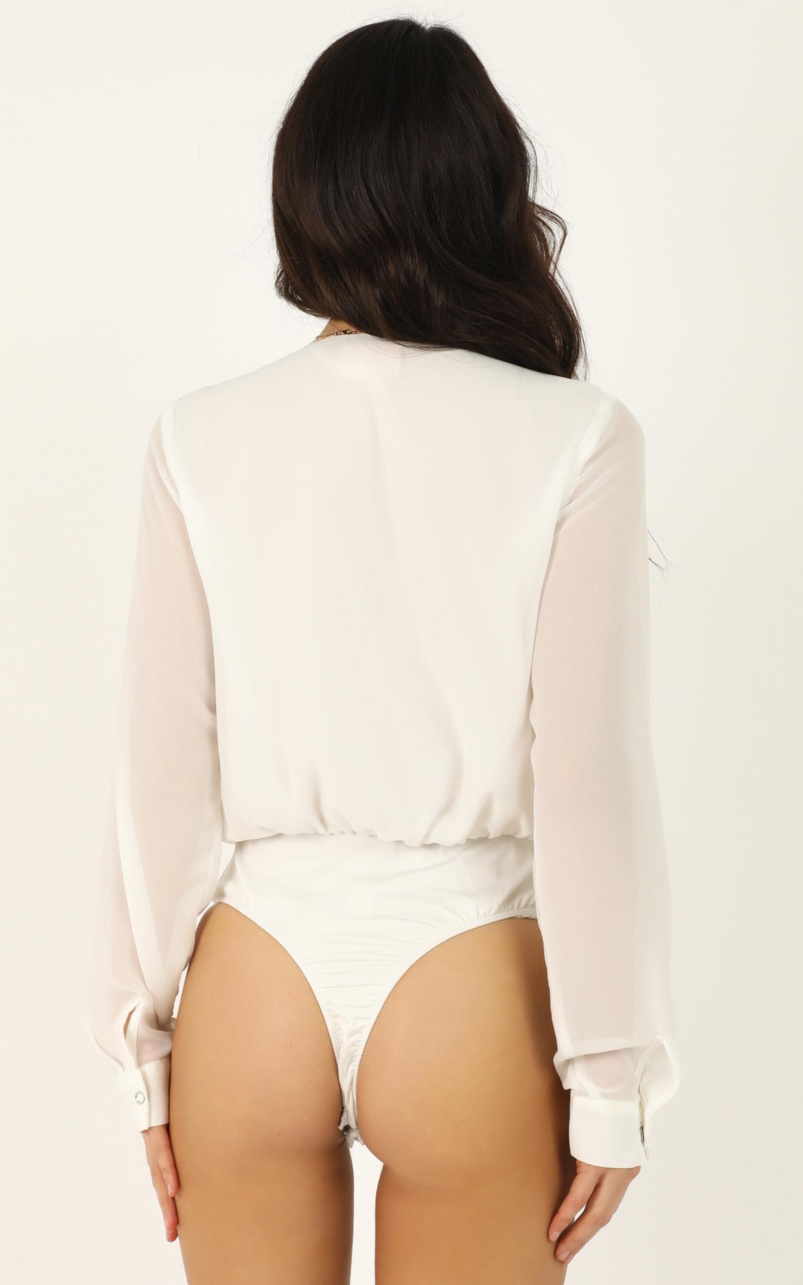 Still Ingrigued Bodysuit In white - 12 (L), White, hi-res image number null