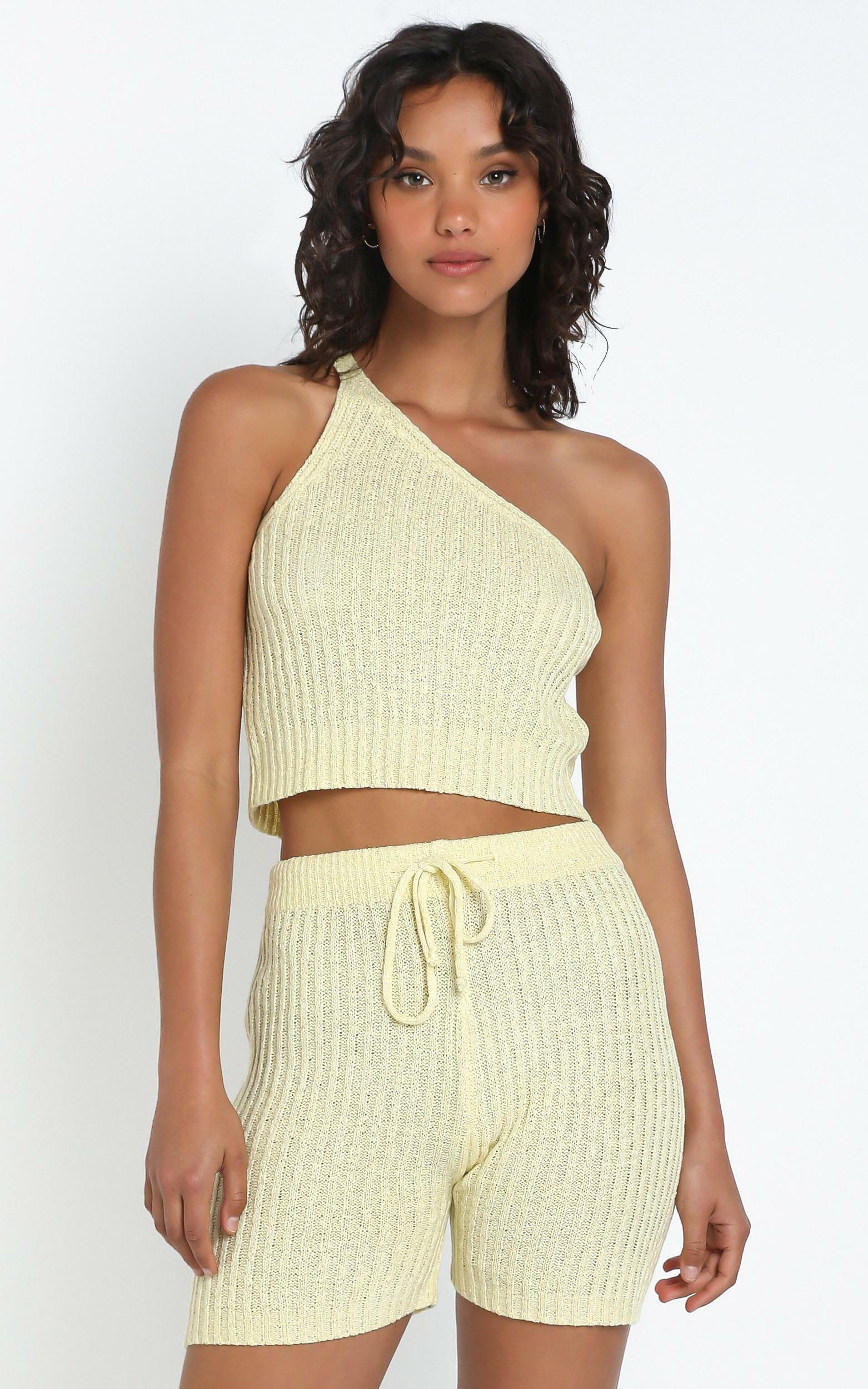 Kerry Knit Top in Yellow - L, Yellow, hi-res image number null