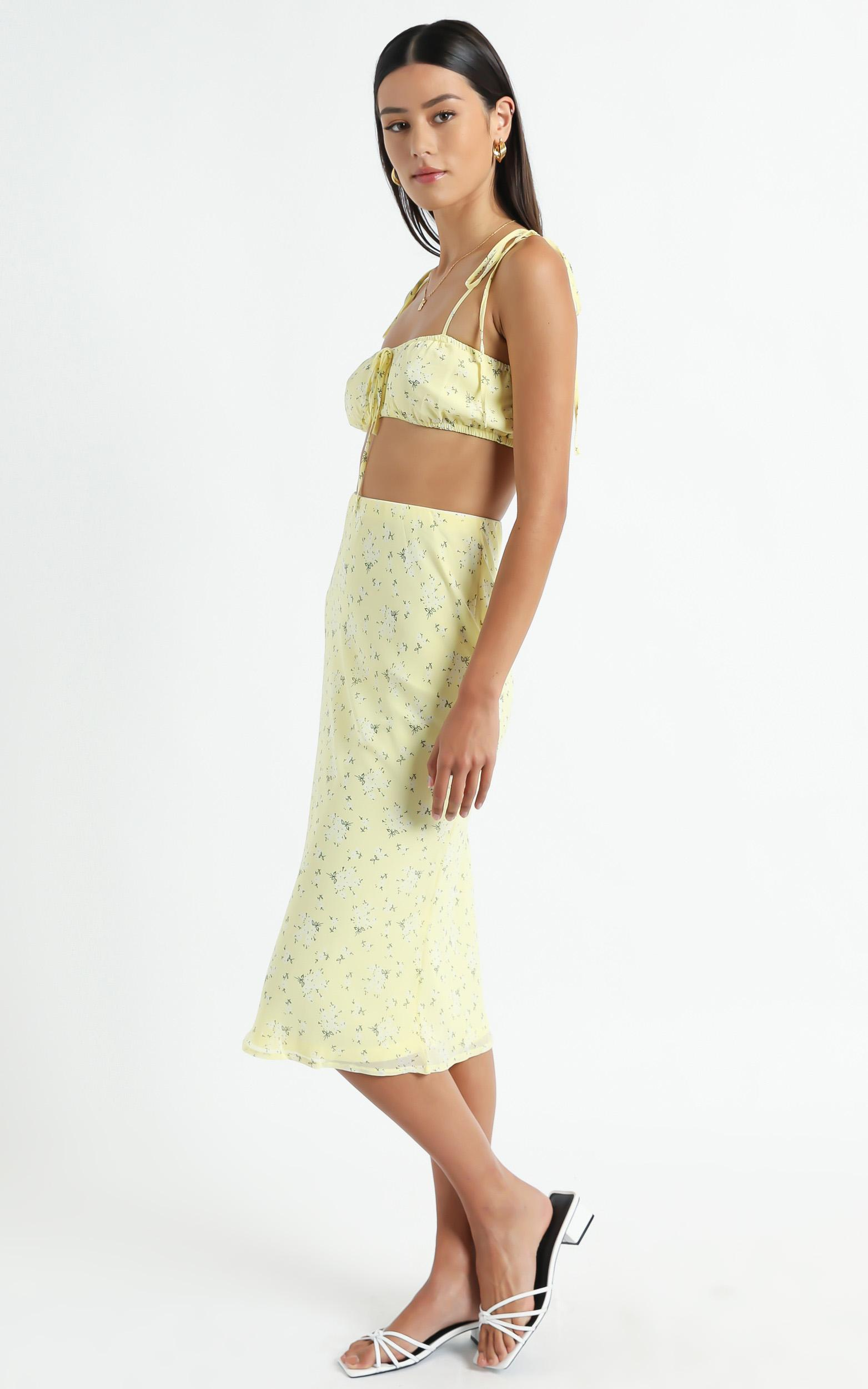 Bodhi Two Piece set in Yellow Floral - 6 (XS), Yellow, hi-res image number null