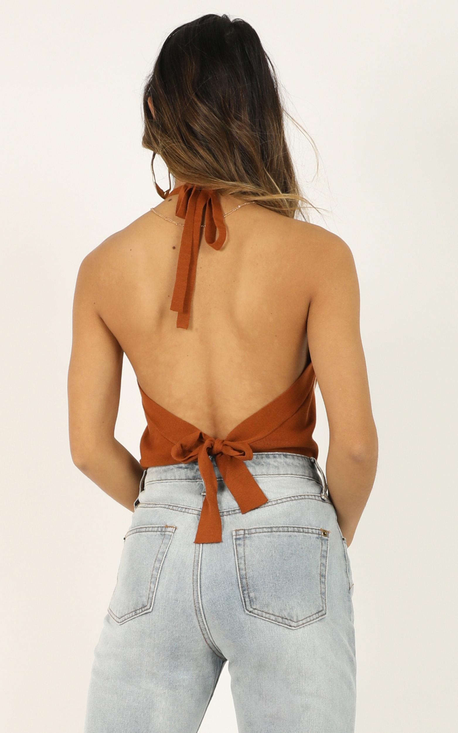 Grow Apart knit top in rust - 12 (L), Rust, hi-res image number null