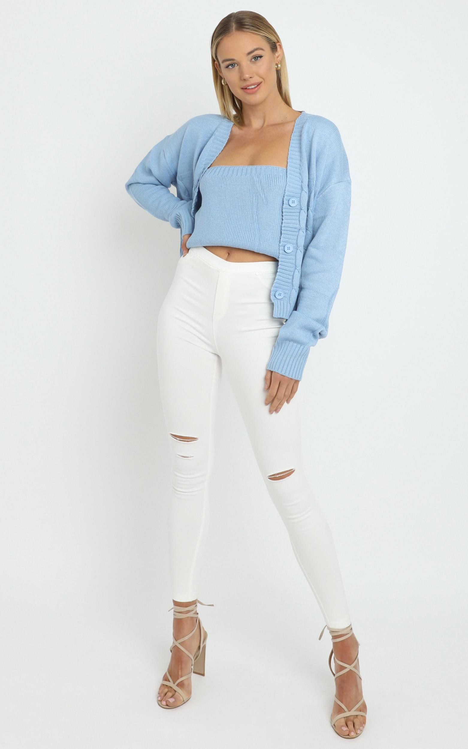 Poppy Knit Cardigan in Blue - L/XL, BLU1, hi-res image number null