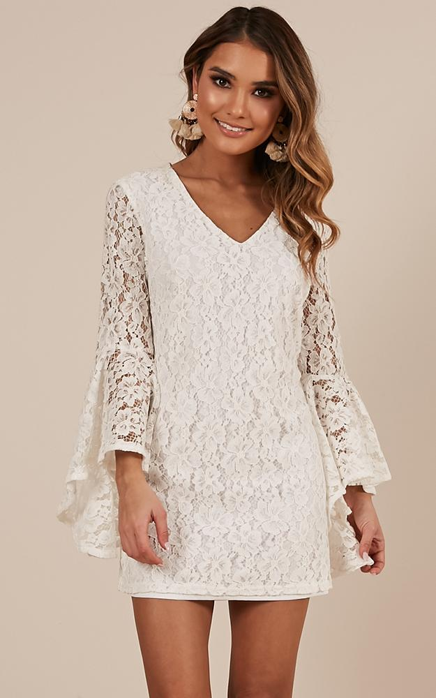 Love In Ruins dress in white lace - 12 (L), White, hi-res image number null