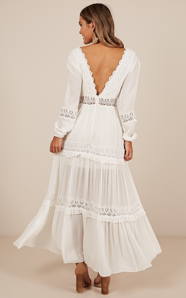 Ariel maxi dress in  white - 14 (XL), White, hi-res image number null