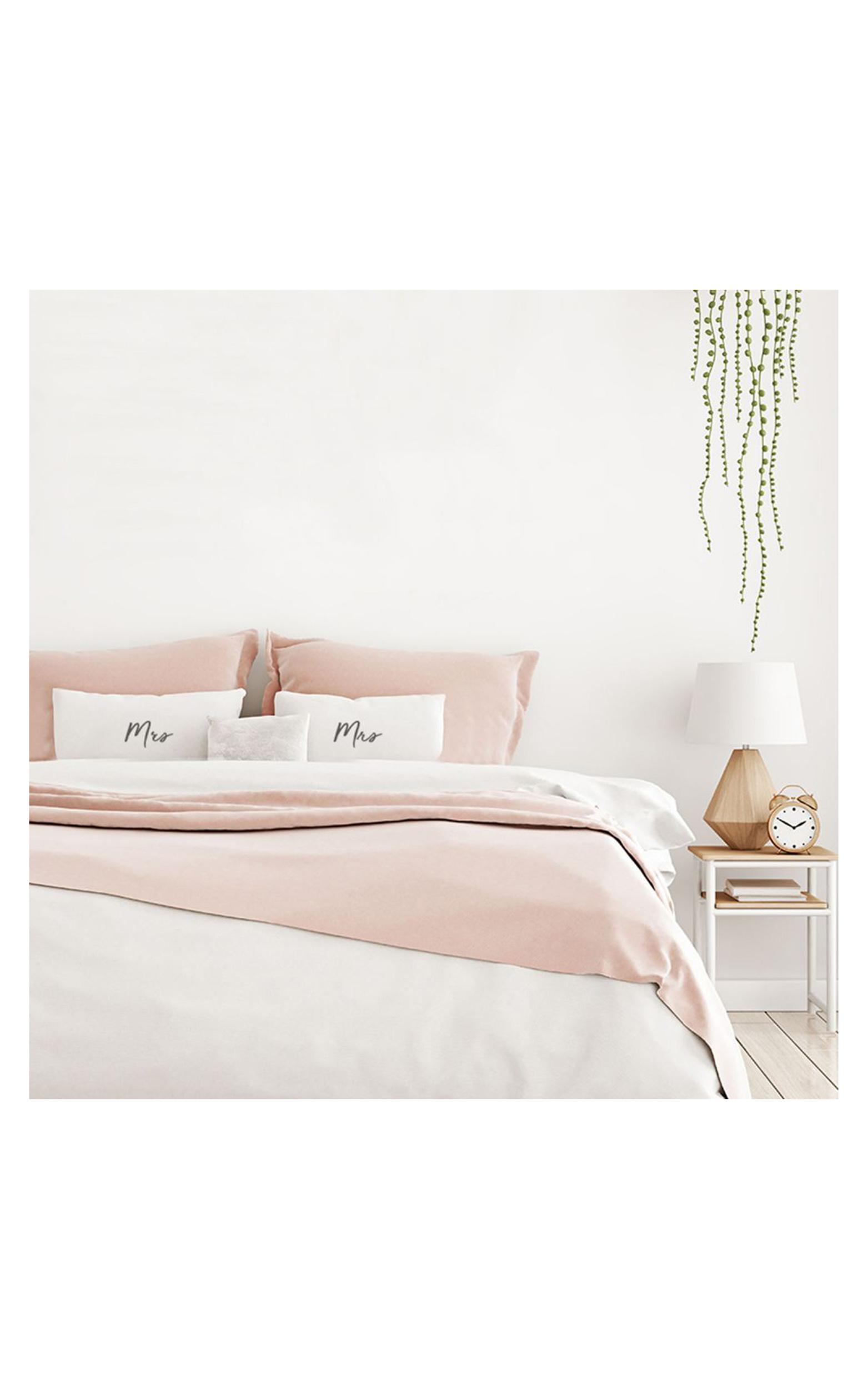 Mrs & Mrs Pillow Case Set In White, , hi-res image number null