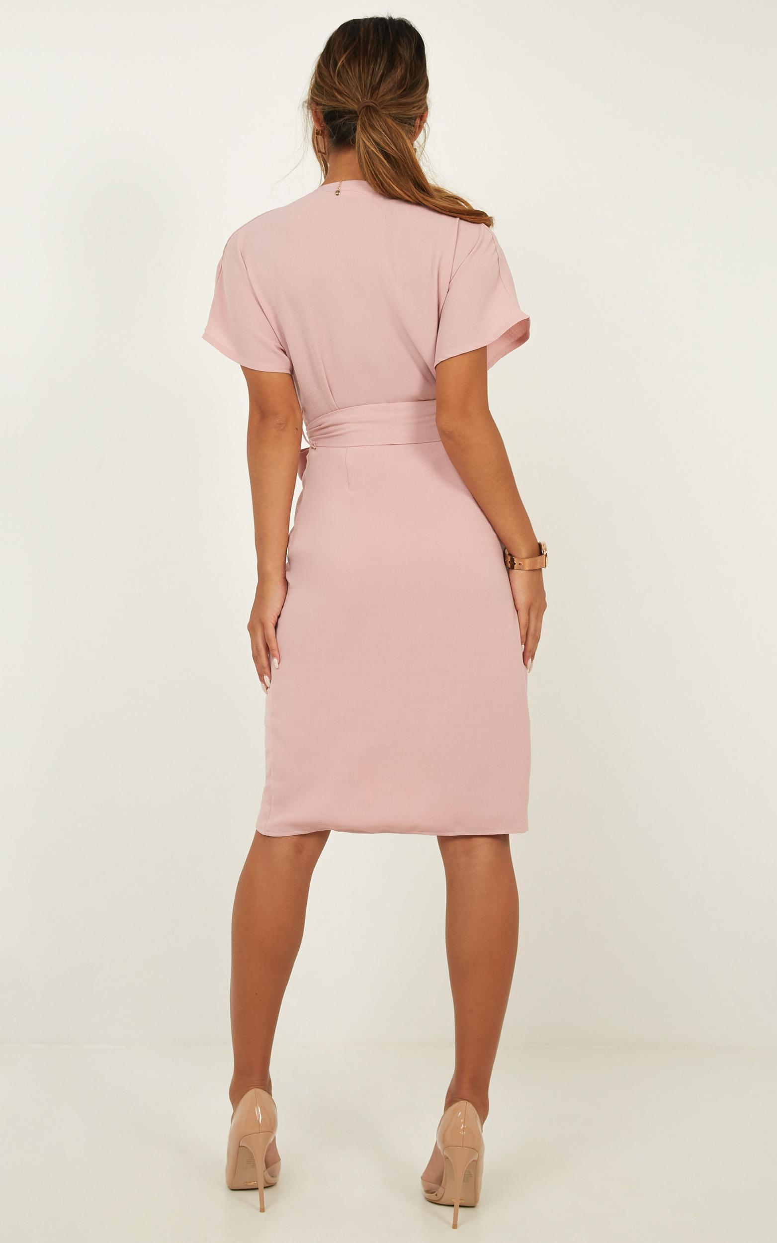 All Shook Up Dress in blush linen look - 12 (L), Blush, hi-res image number null