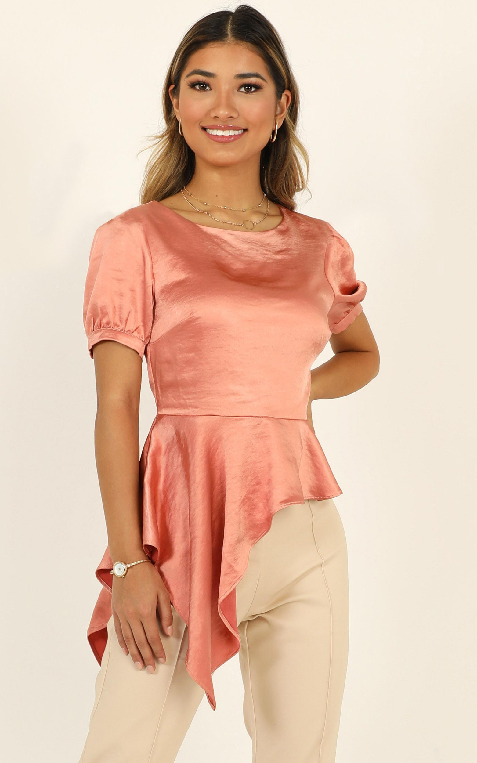 Productivity top in rose satin - 14 (XL), Blush, hi-res image number null