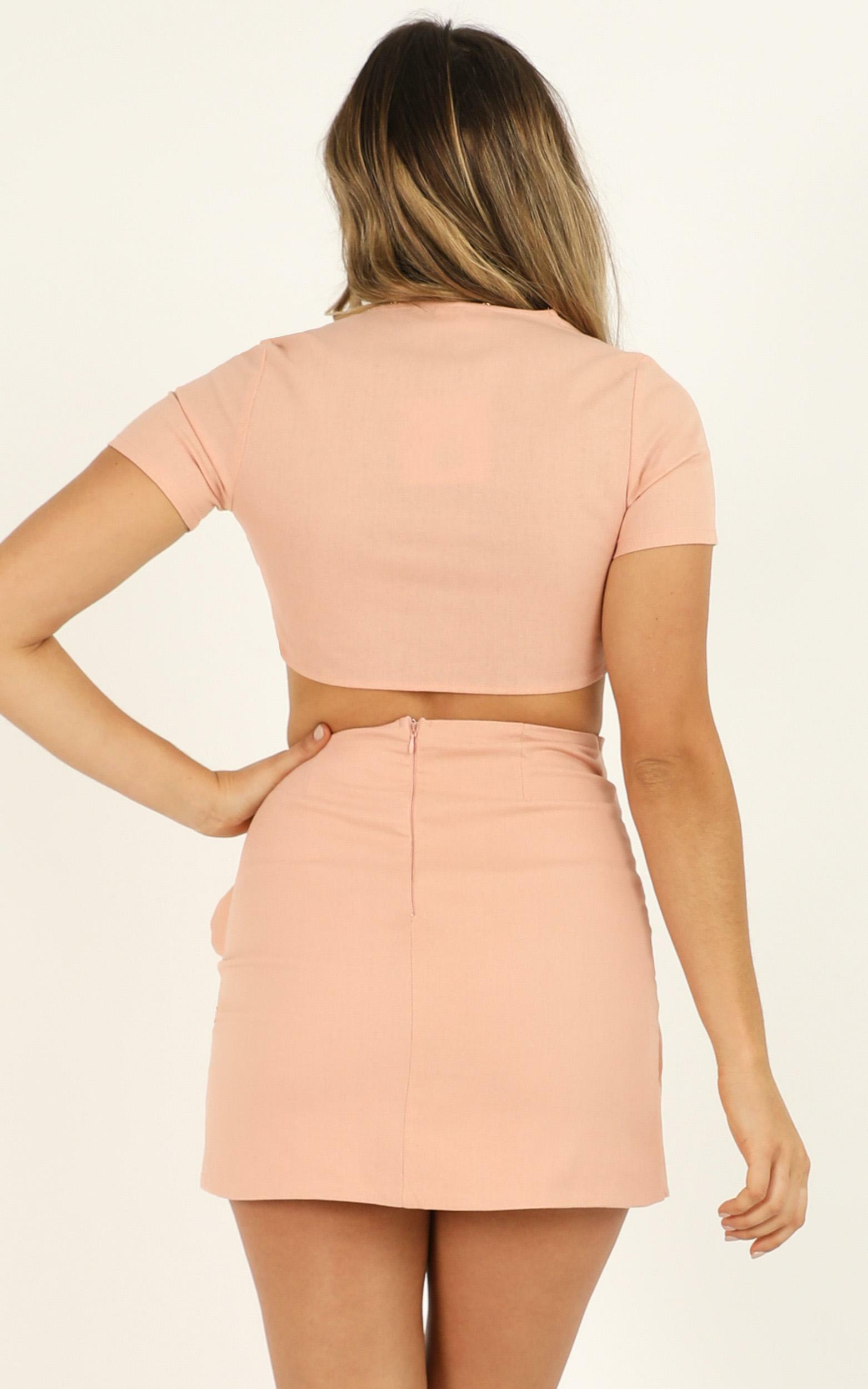 Gather Your Things two piece set In blush linen look - 12 (L), Blush, hi-res image number null
