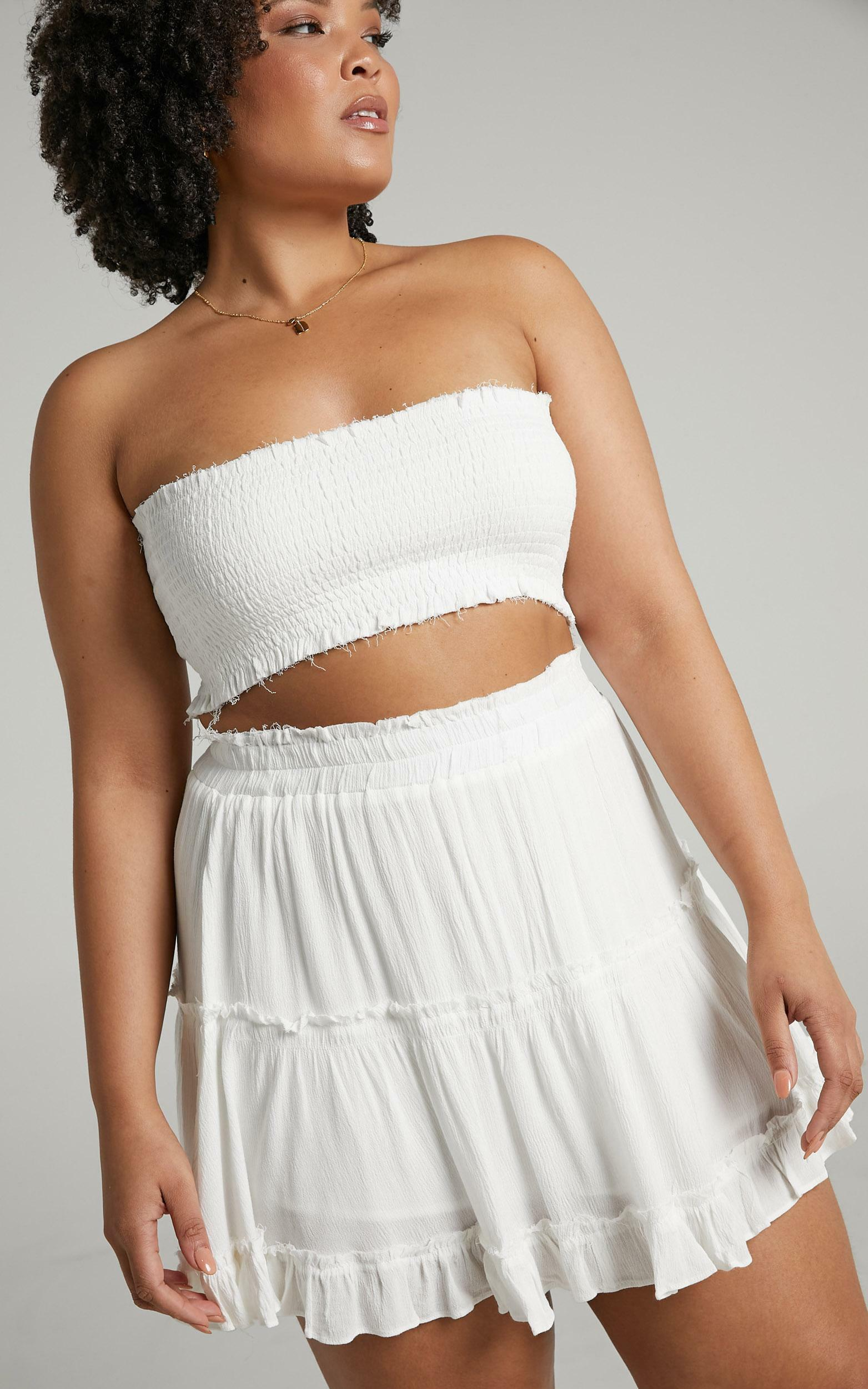 Outside The Line two piece set in white - 4 (XXS), White, hi-res image number null