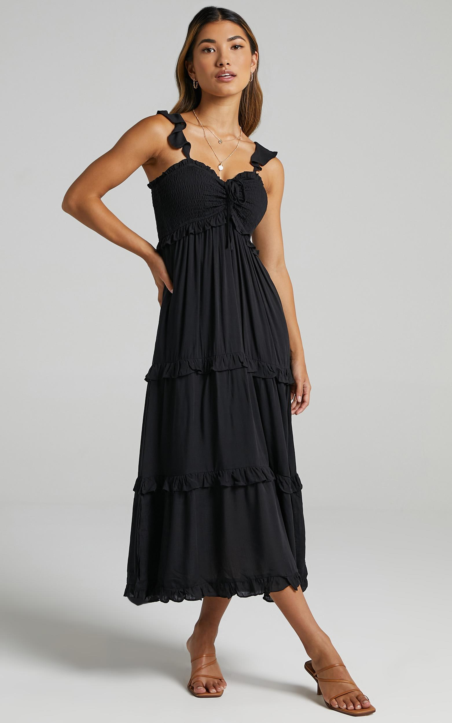 Good For The Soul Dress In Black - 6 (XS), Black, hi-res image number null