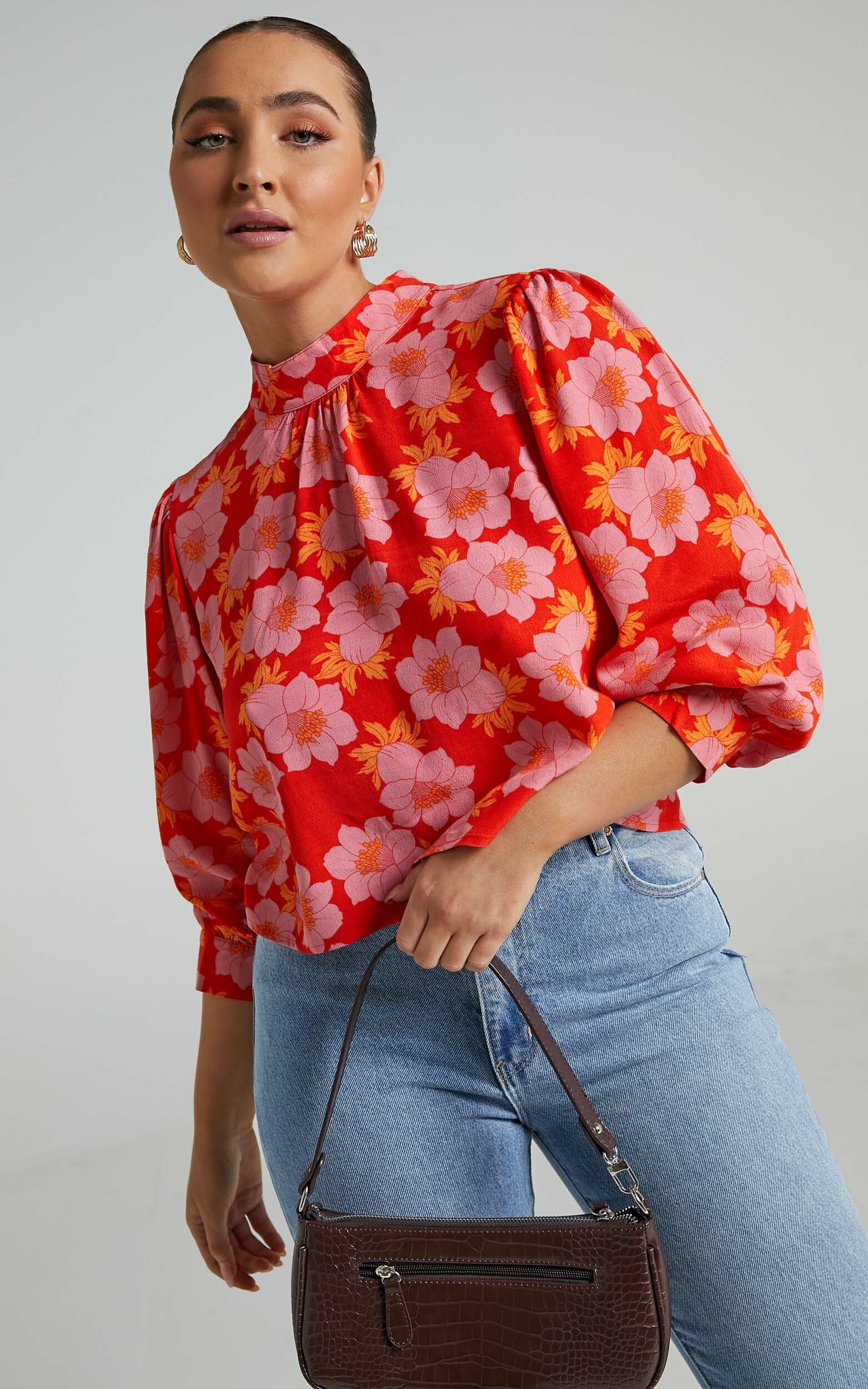 Rollas - Stephanie Datura Blouse in Pink Cordial - 06, PNK1, hi-res image number null