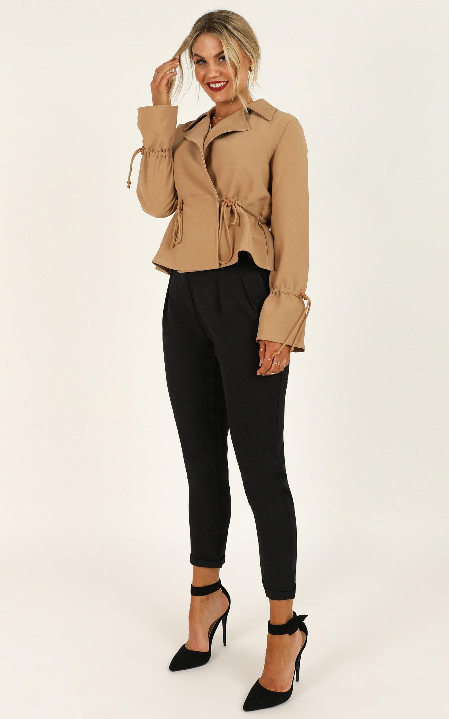Ideal Candidate coat in tan - 14 (XL), Tan, hi-res image number null