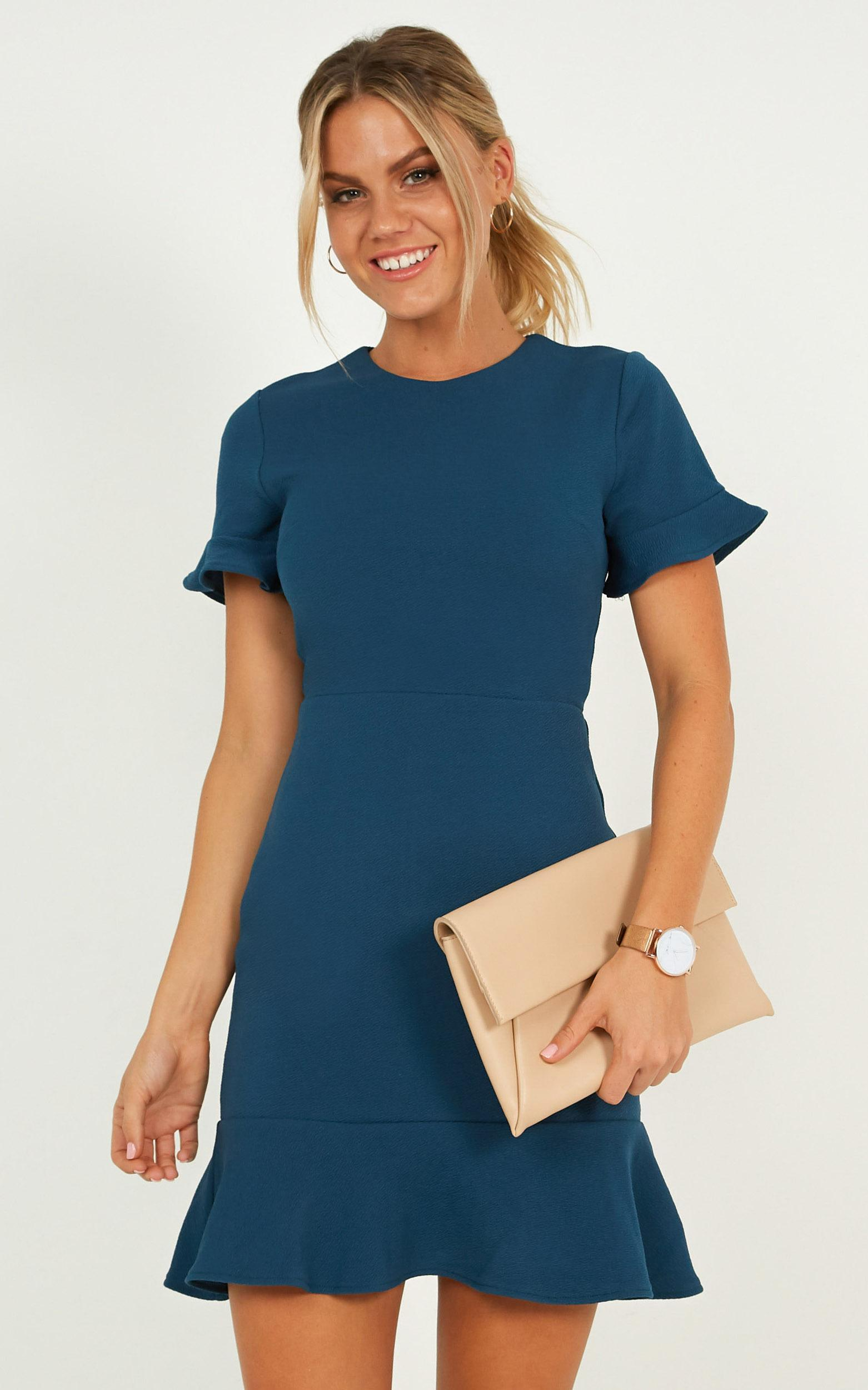 Authority Dress In teal - 20 (XXXXL), Green, hi-res image number null