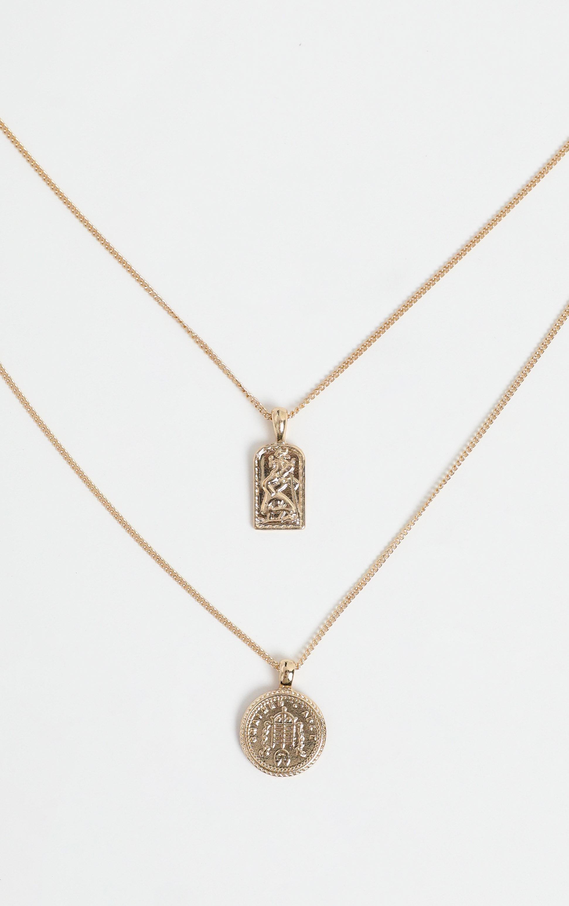 Nyssa Layered Necklace in Gold, , hi-res image number null