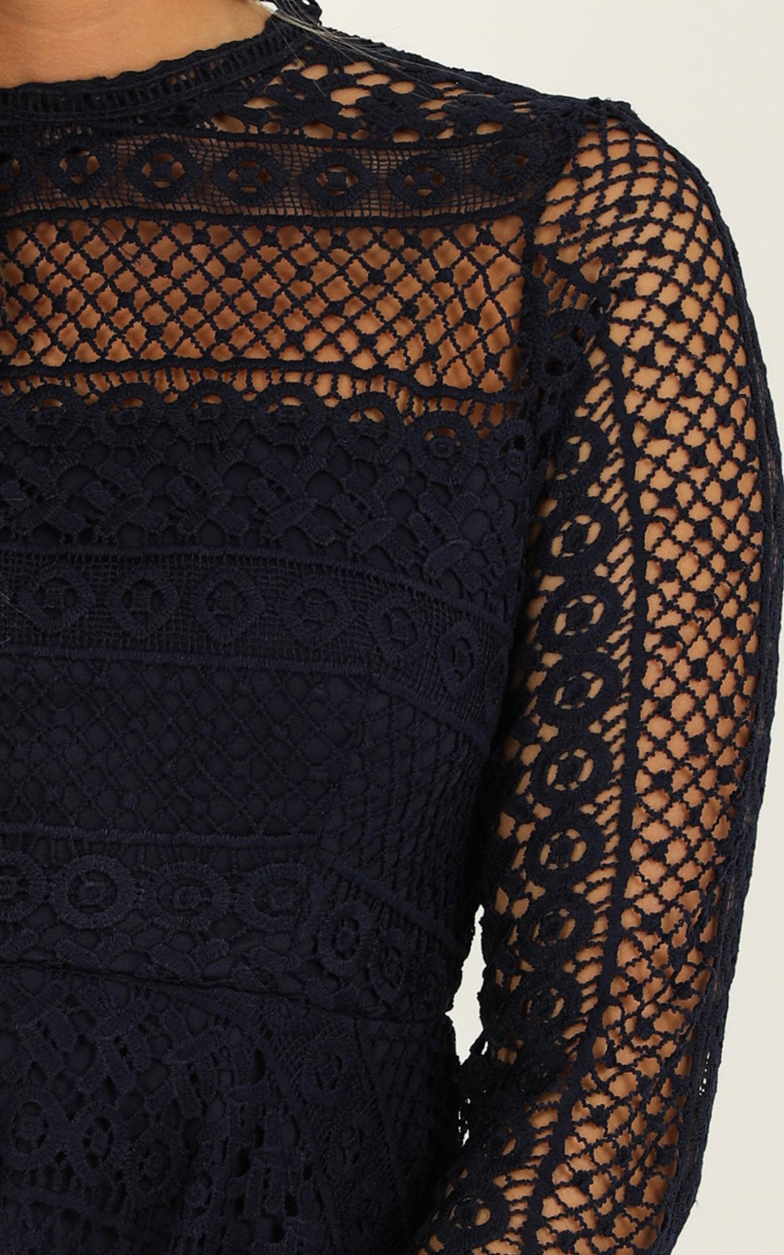 Hidden Figures Dress in navy lace - 4 (XXS), Navy, hi-res image number null