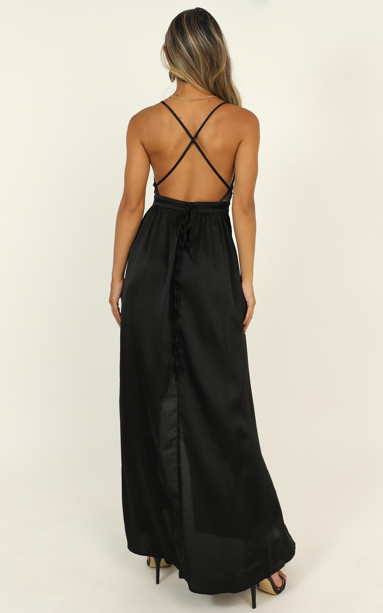 Fix You Maxi Dress In Black - 16 (XXL), Black, hi-res image number null