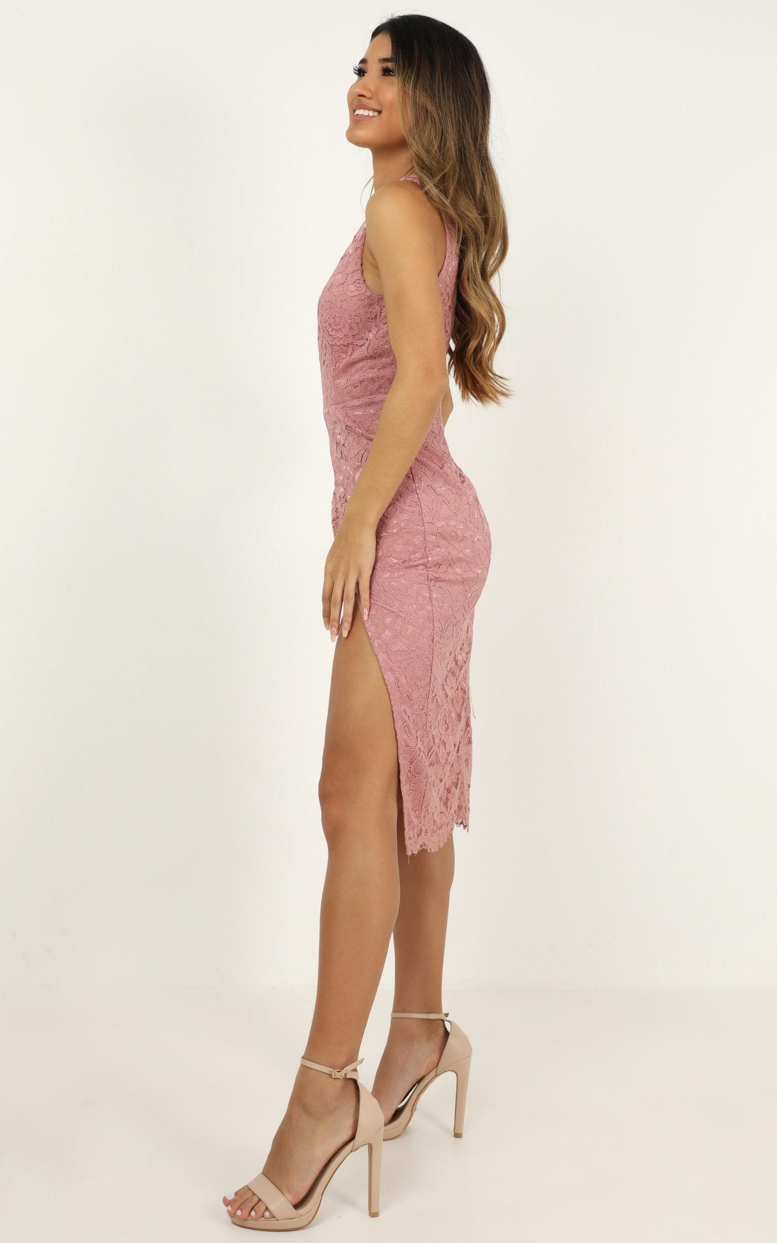 My Kind of Party Dress in blush lace - 20 (XXXXL), Blush, hi-res image number null