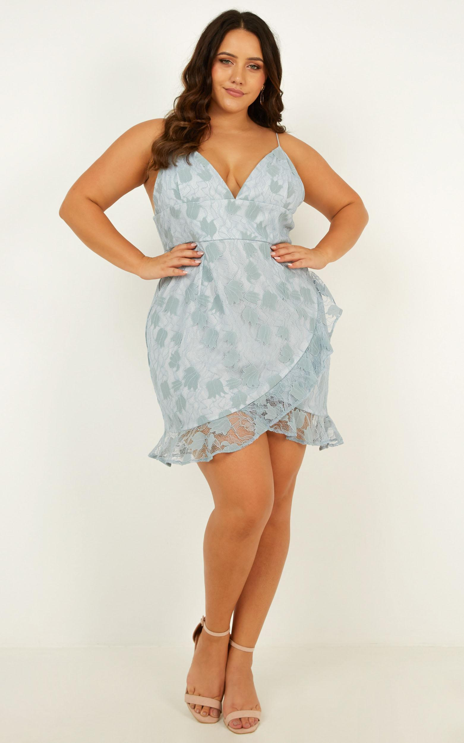 Must Admit Dress In blue lace - 20 (XXXXL), Blue, hi-res image number null