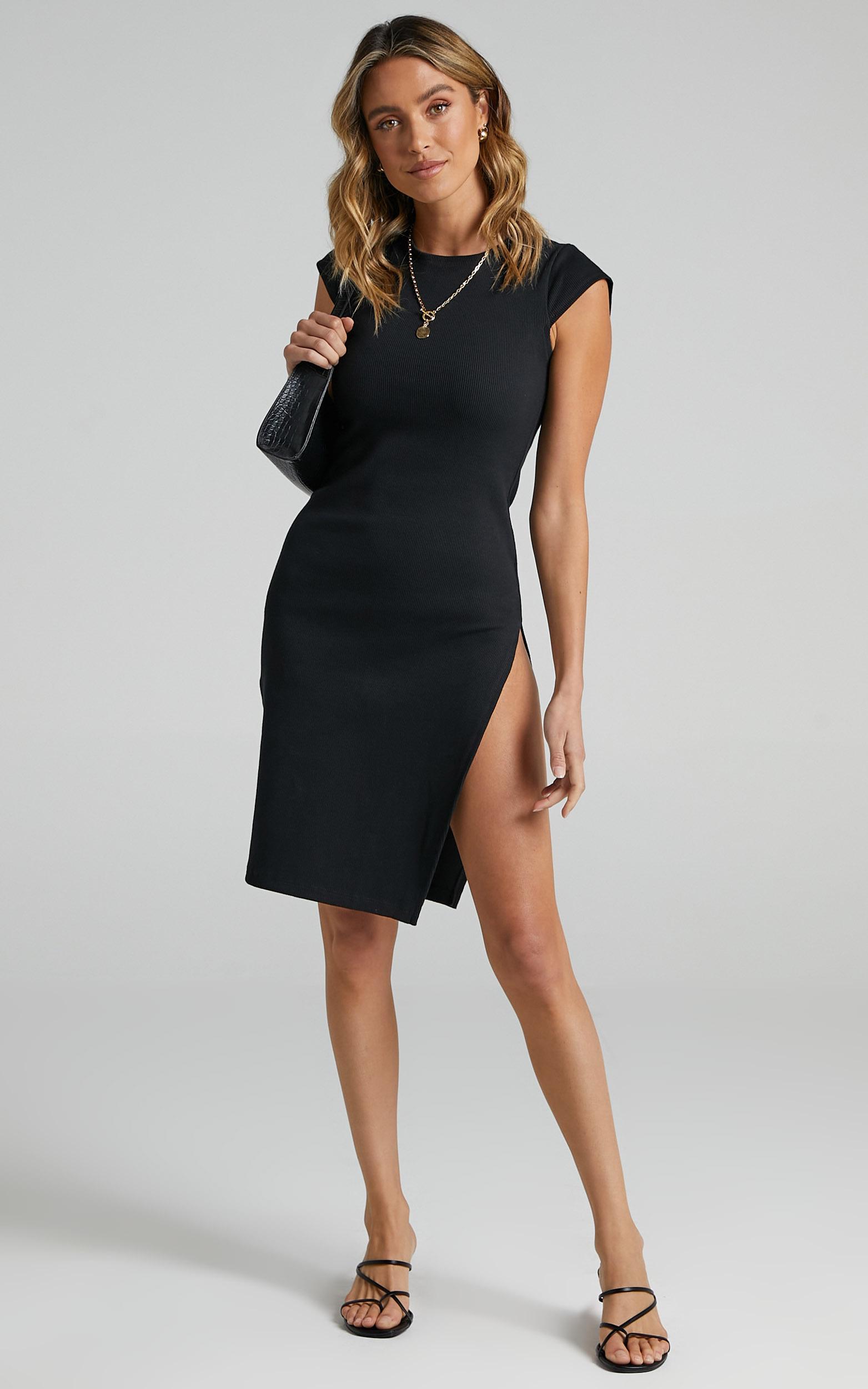 Lioness - Don`t Blame Me Midi Dress in Black - 06, BLK1, hi-res image number null
