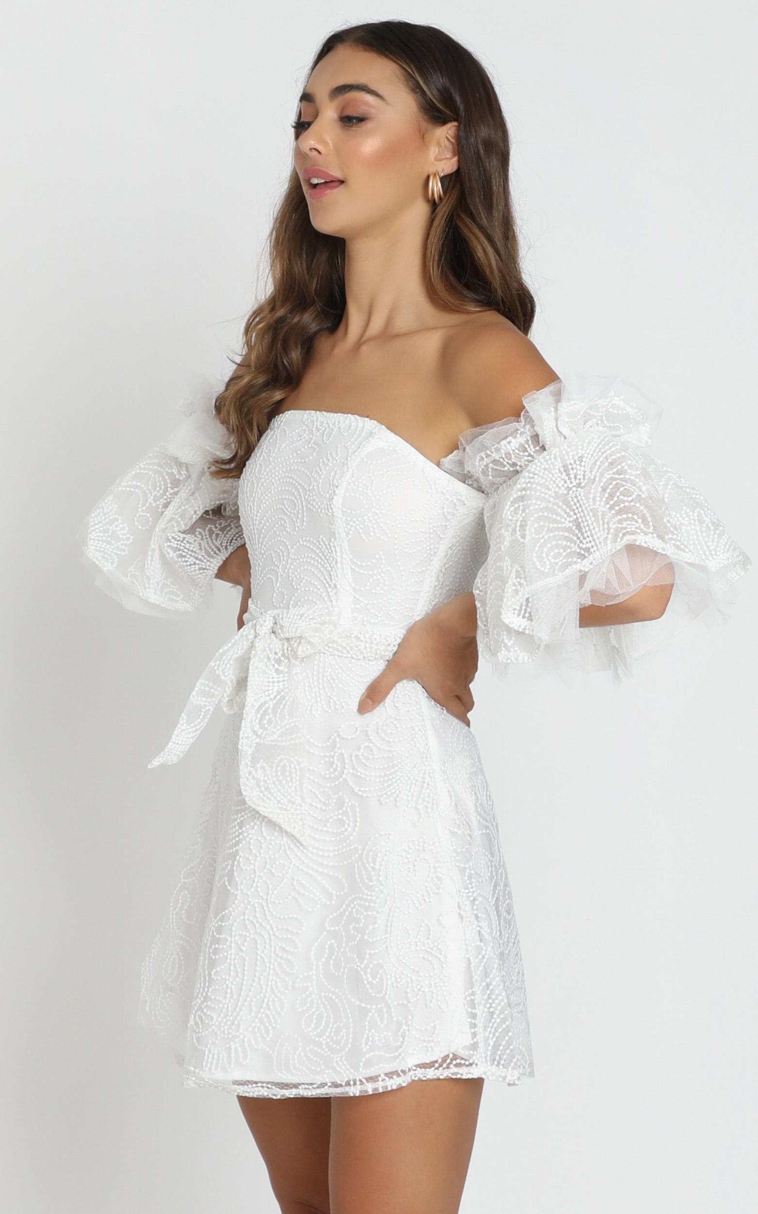 Narelle Dress in white - 6 (XS), White, hi-res image number null