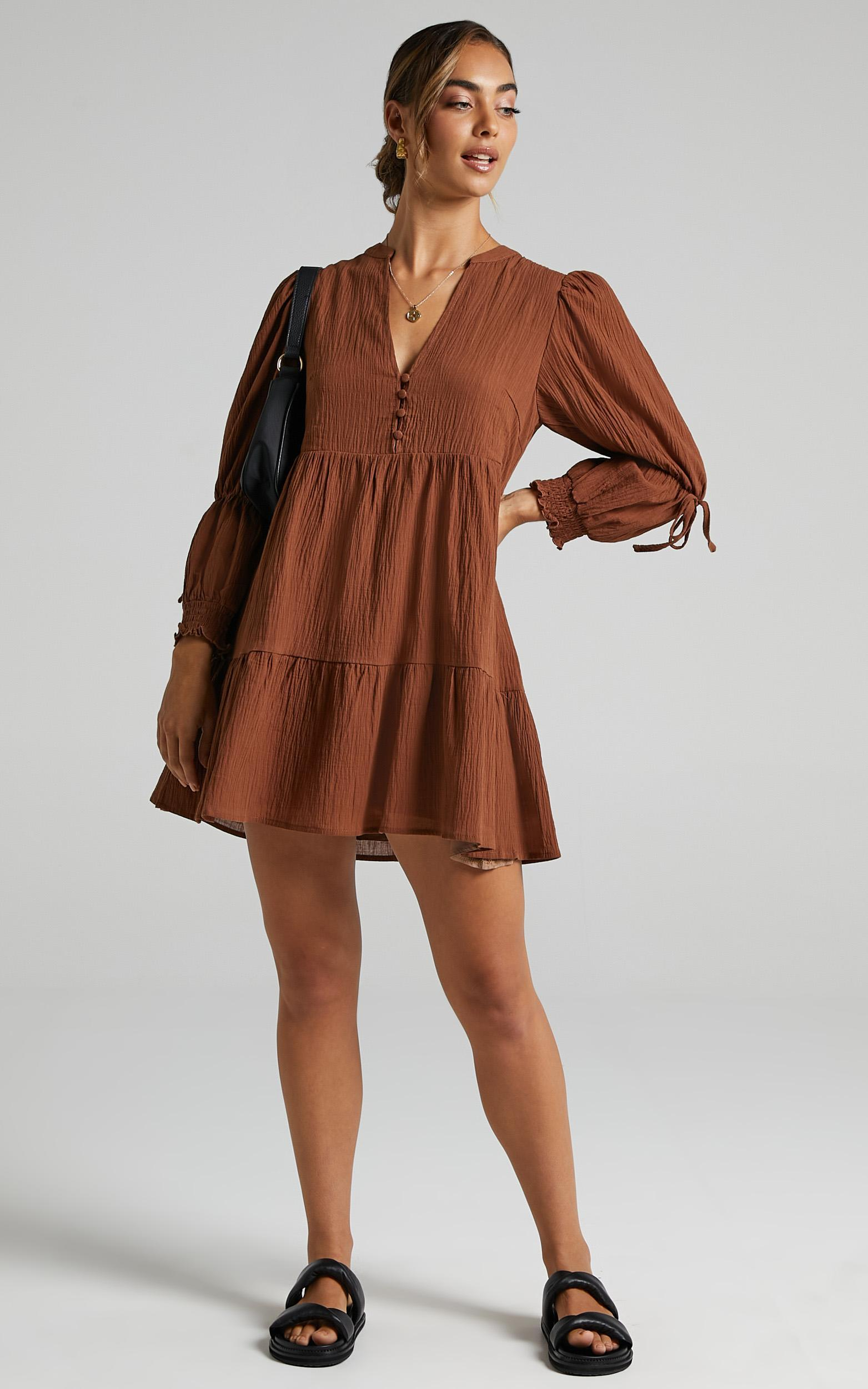 Orald Dress in Chocolate - 6 (XS), BRN9, hi-res image number null