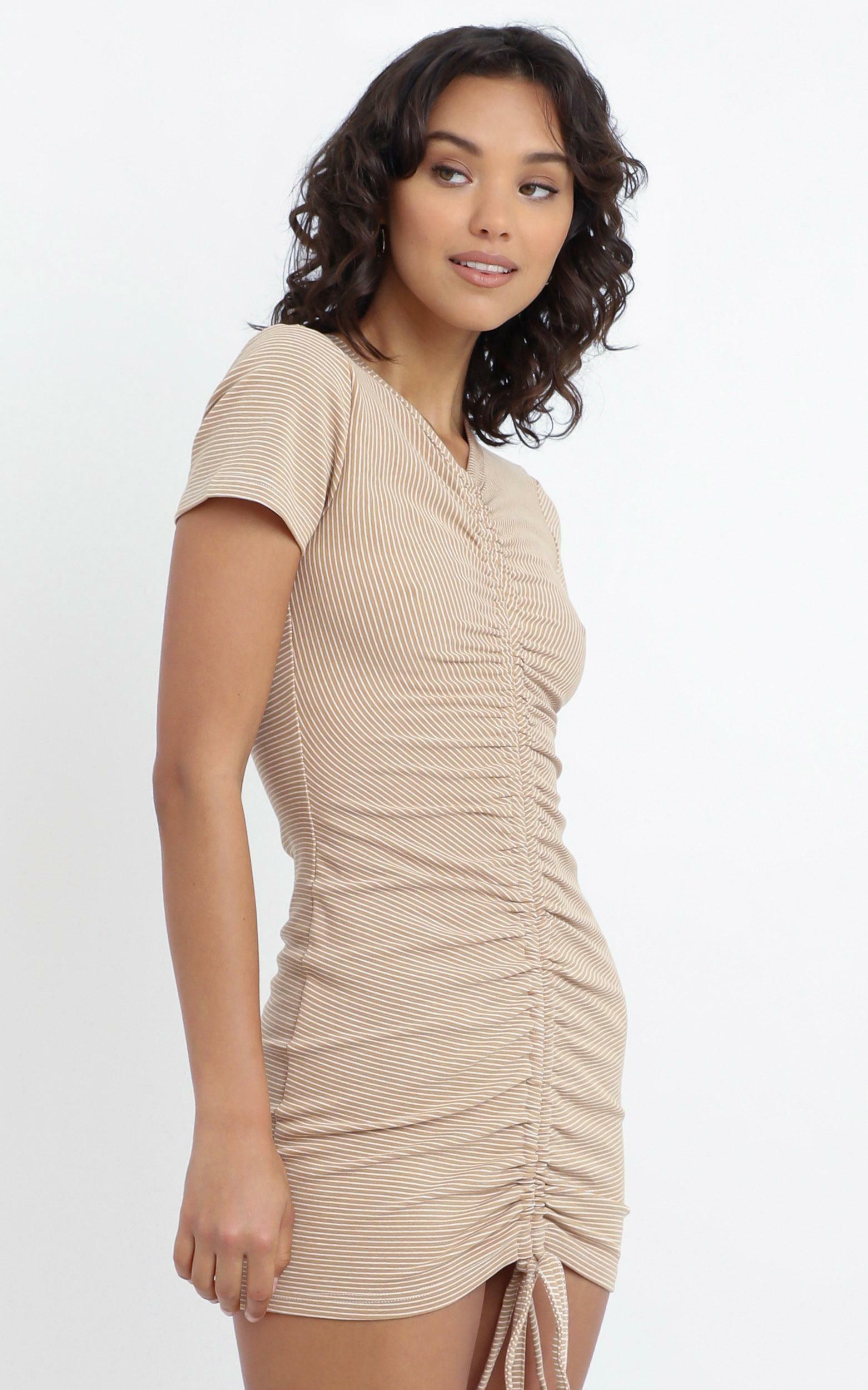 Eliza Dress in Beige - 12 (L), Beige, hi-res image number null